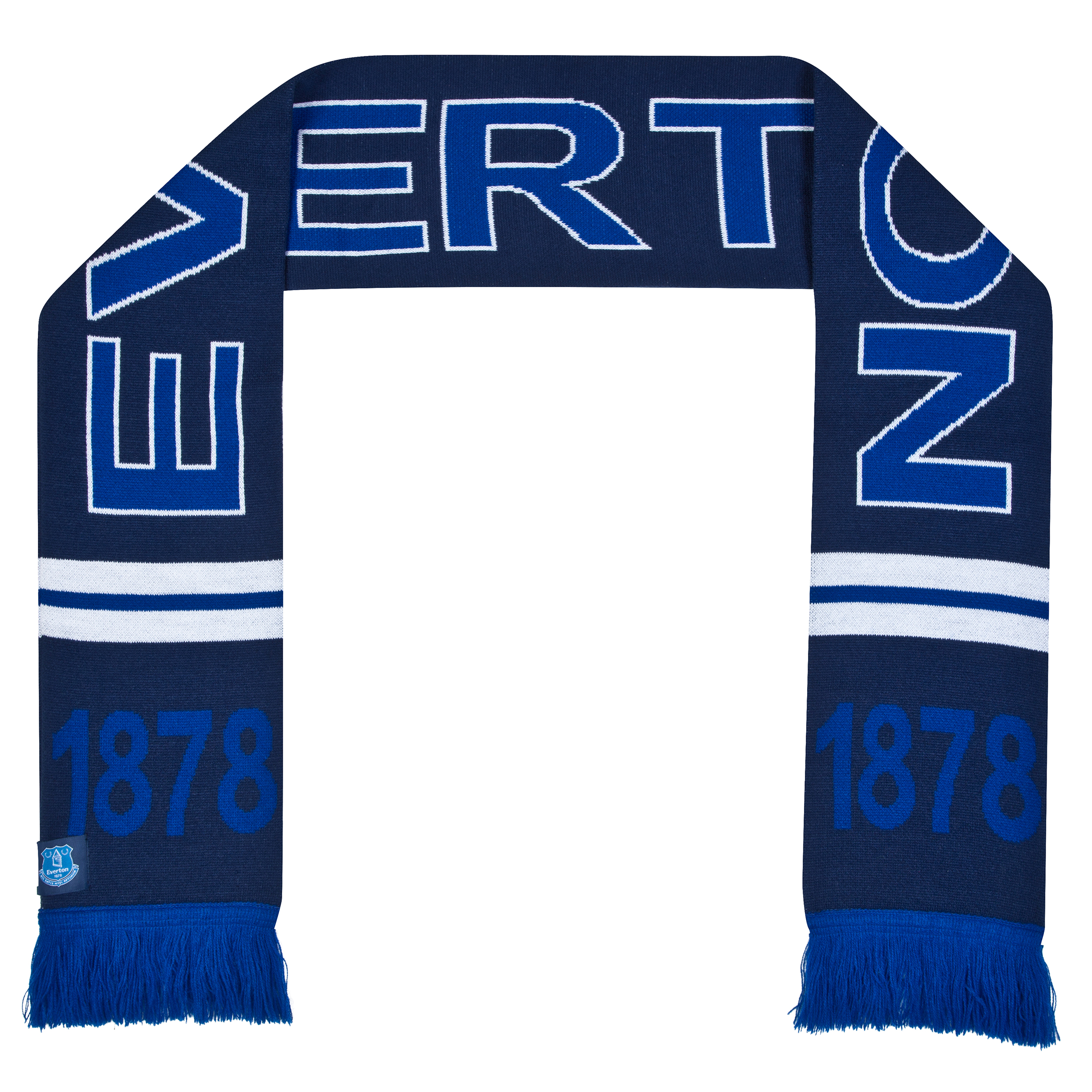 Everton Text Scarf - Royal Blue/navy - Adult