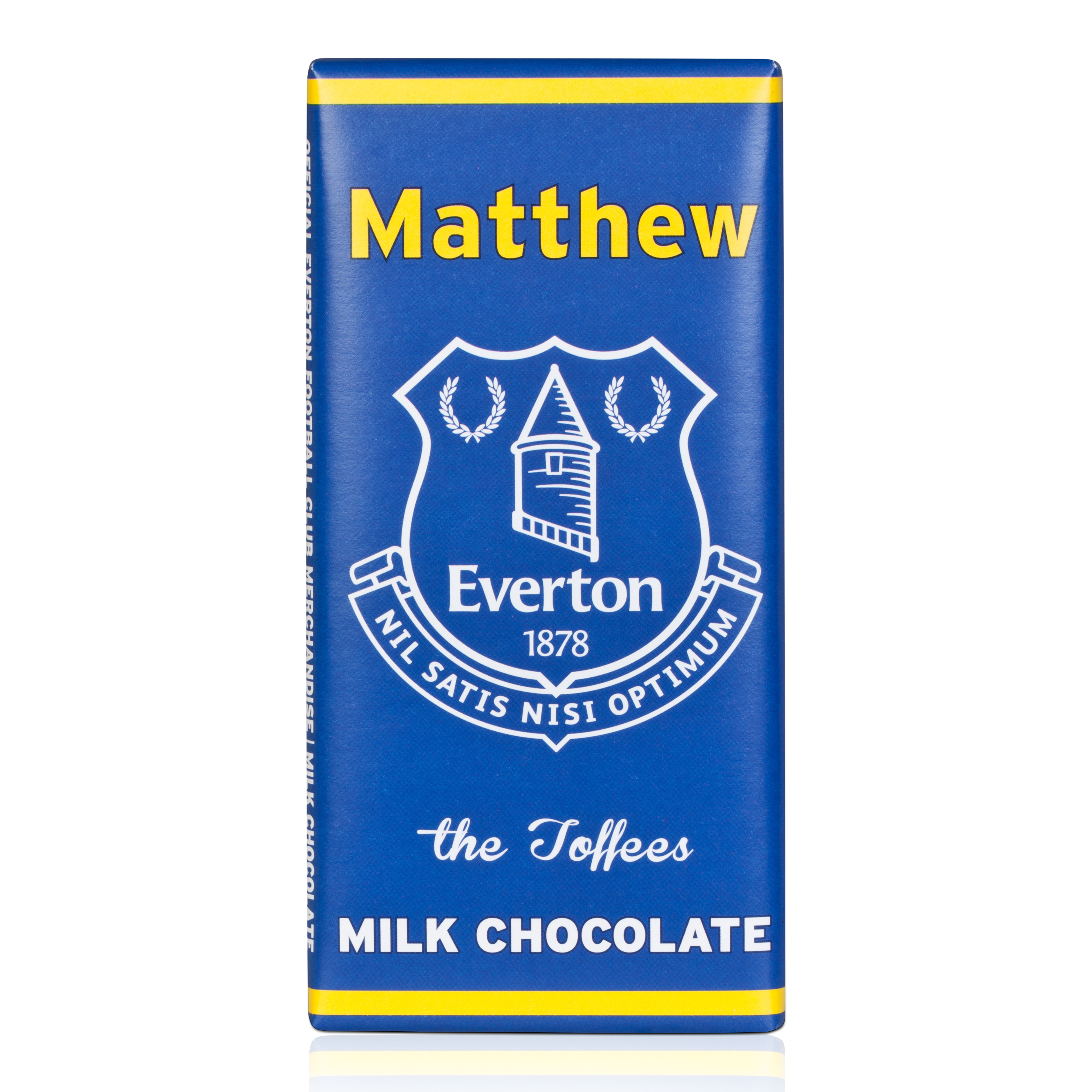 Everton Personalised Chocolate Bar