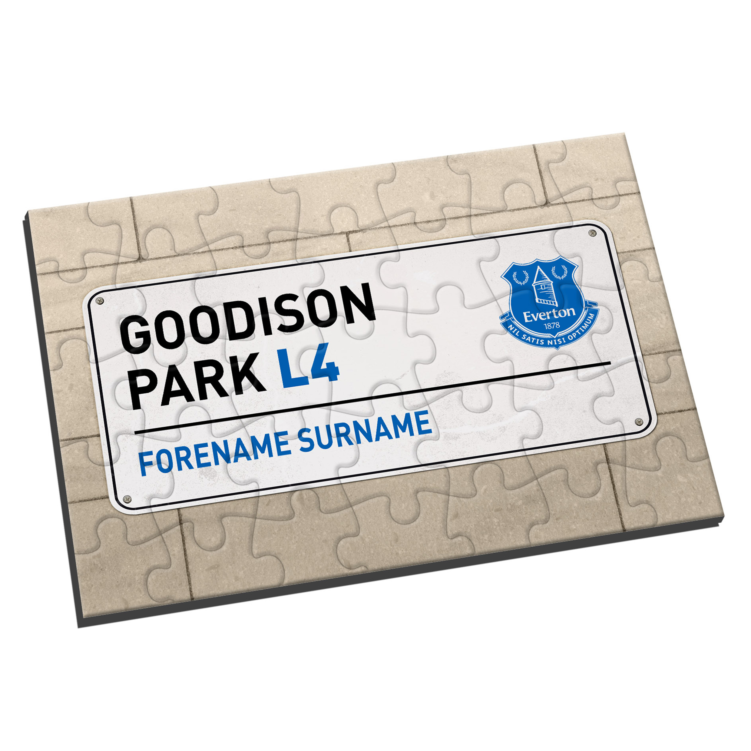 Everton Personalised Street Sign Jigsaw