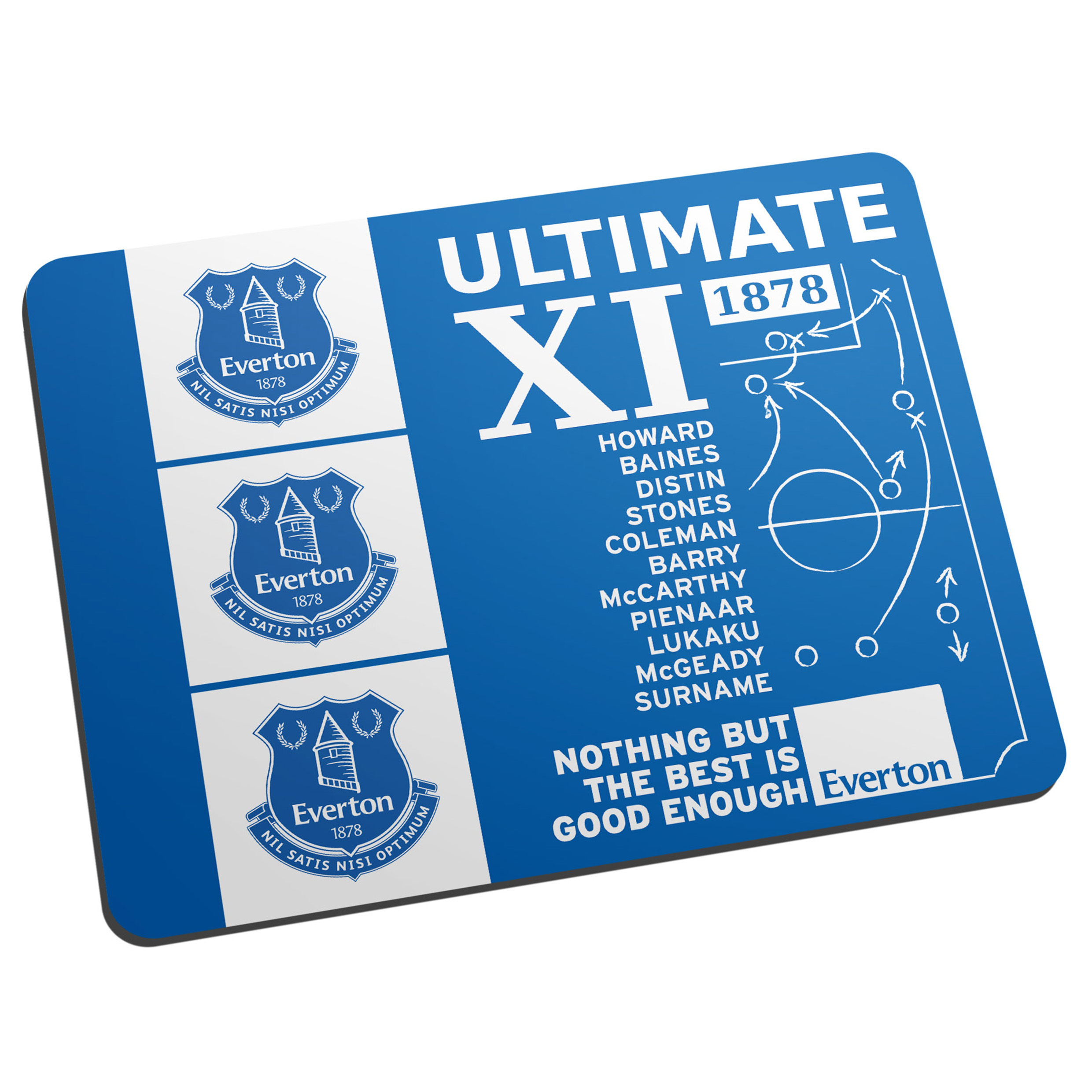 Everton Personalised Ultimate XI Mouse Mat
