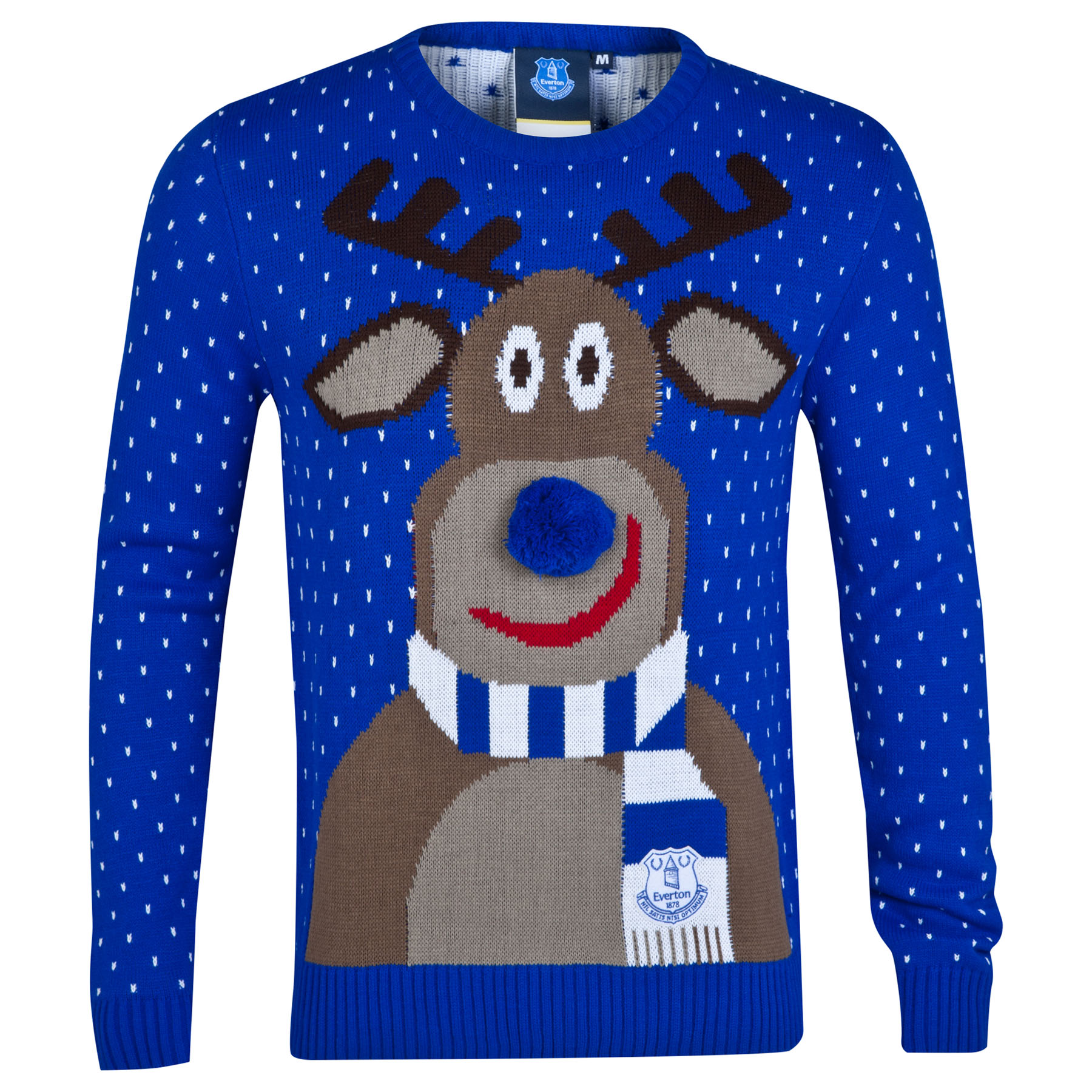 Everton Christmas Jumper - Blue - Adult