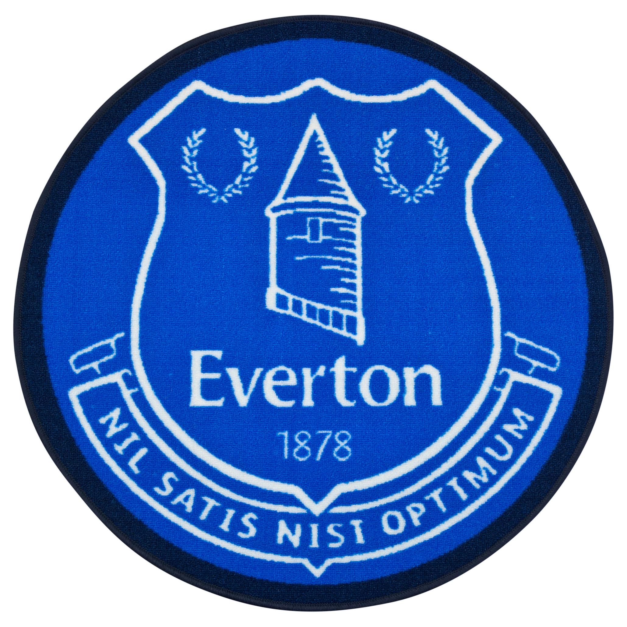 Everton Crest Oval Rug 80cm Dia