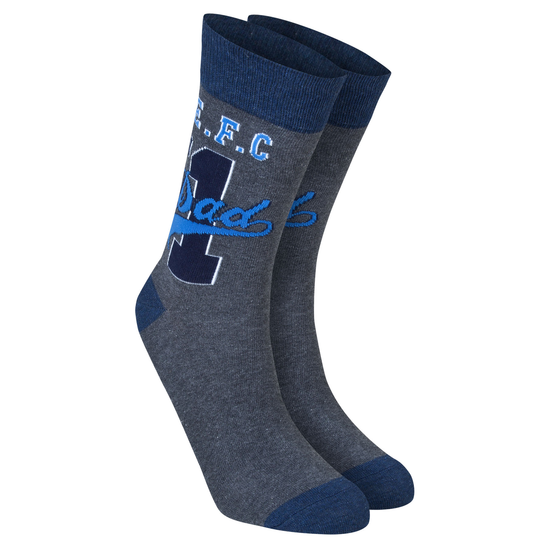 Everton Dad Socks - Charcoal Marl - Mens