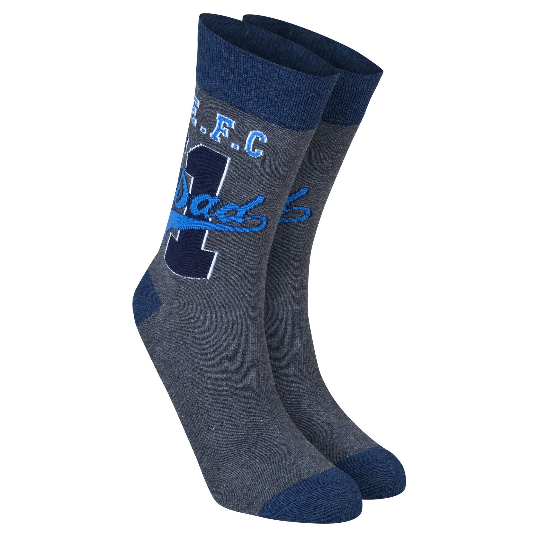 Everton Dad Socks - Charcoal Marl - Mens
