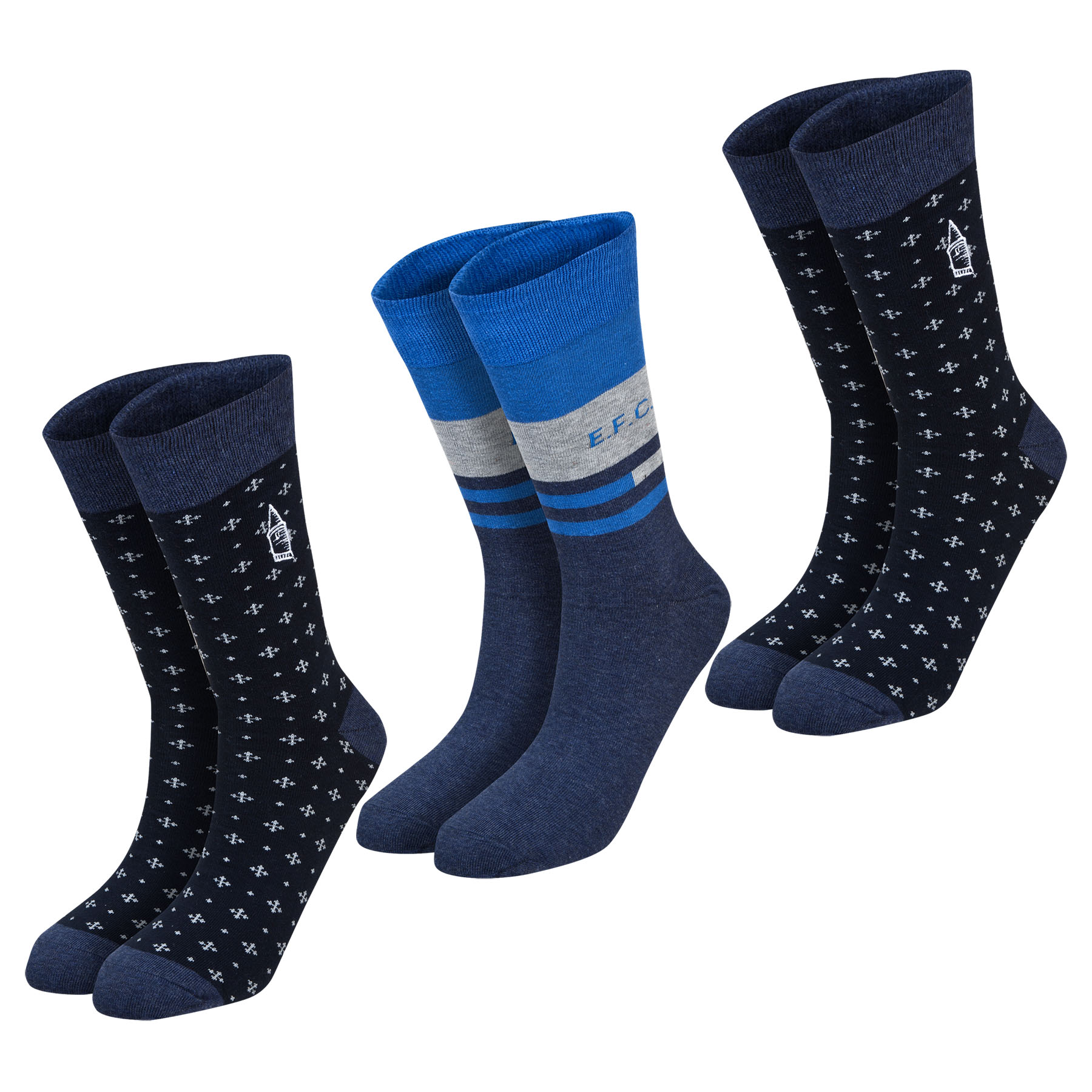Everton Sock Giftbox - Navy/Grey - Mens