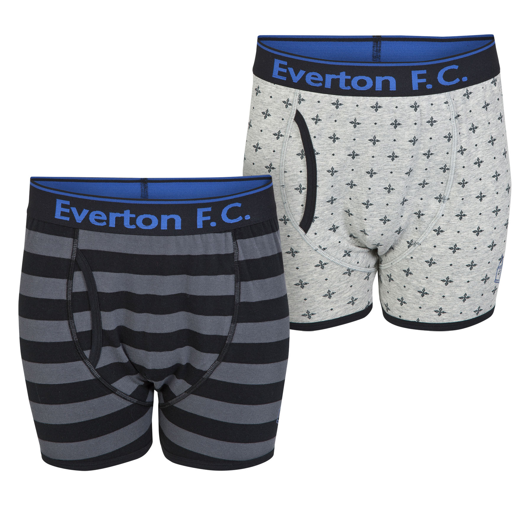 Everton 2pk Boxer Shorts - Black/Grey - Mens