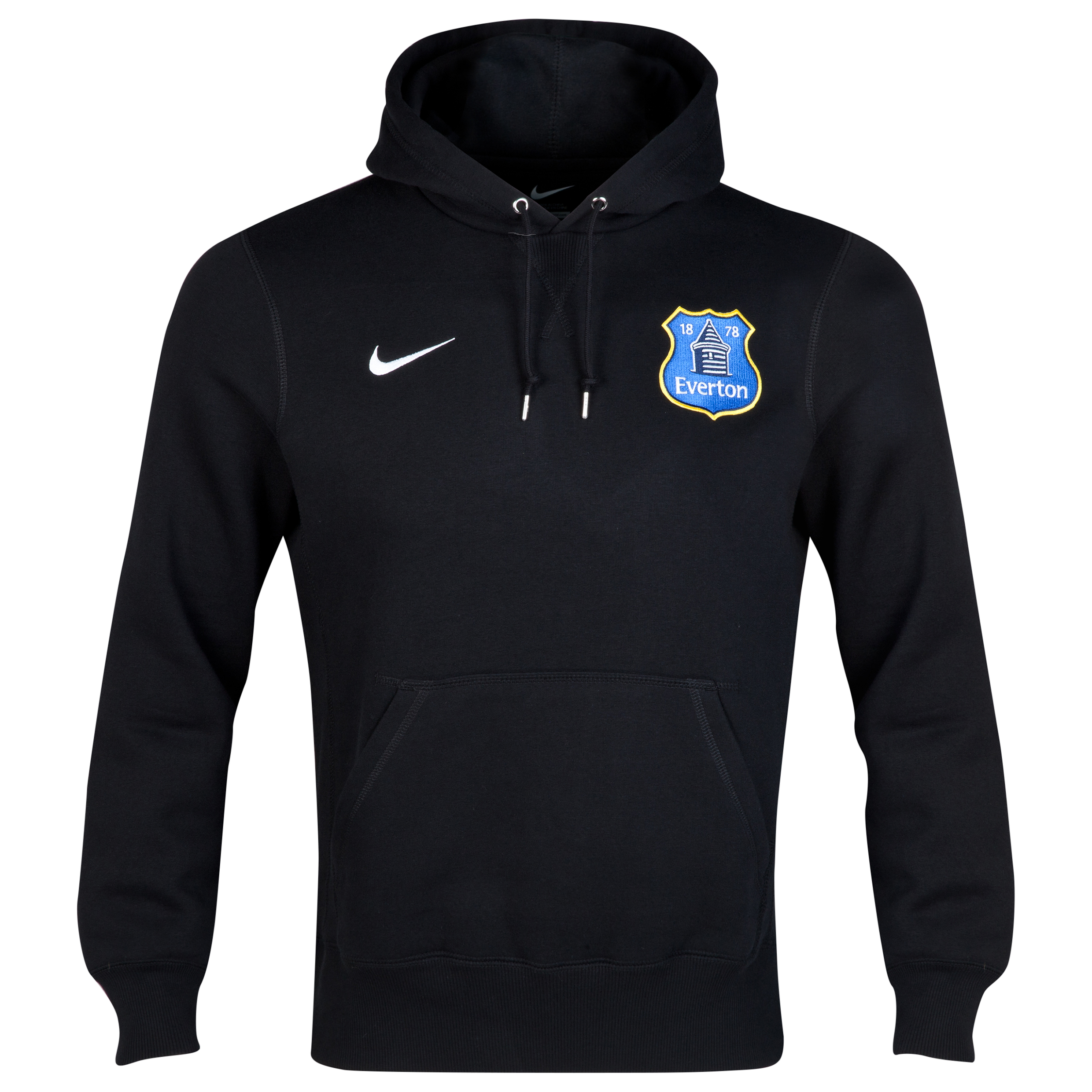 Everton Fleece Hoodie - Black/White