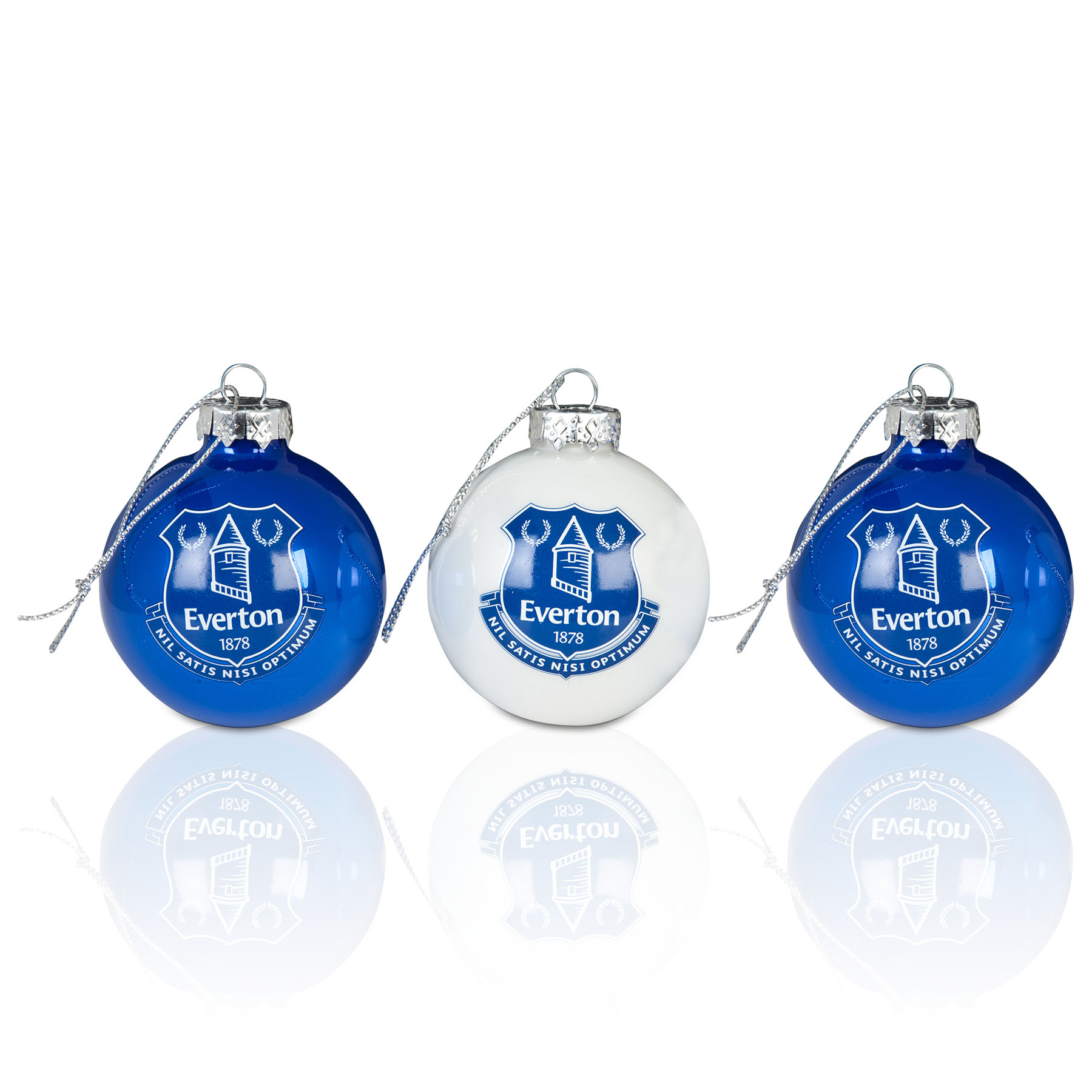 Everton Pearlised Baubles 3pk