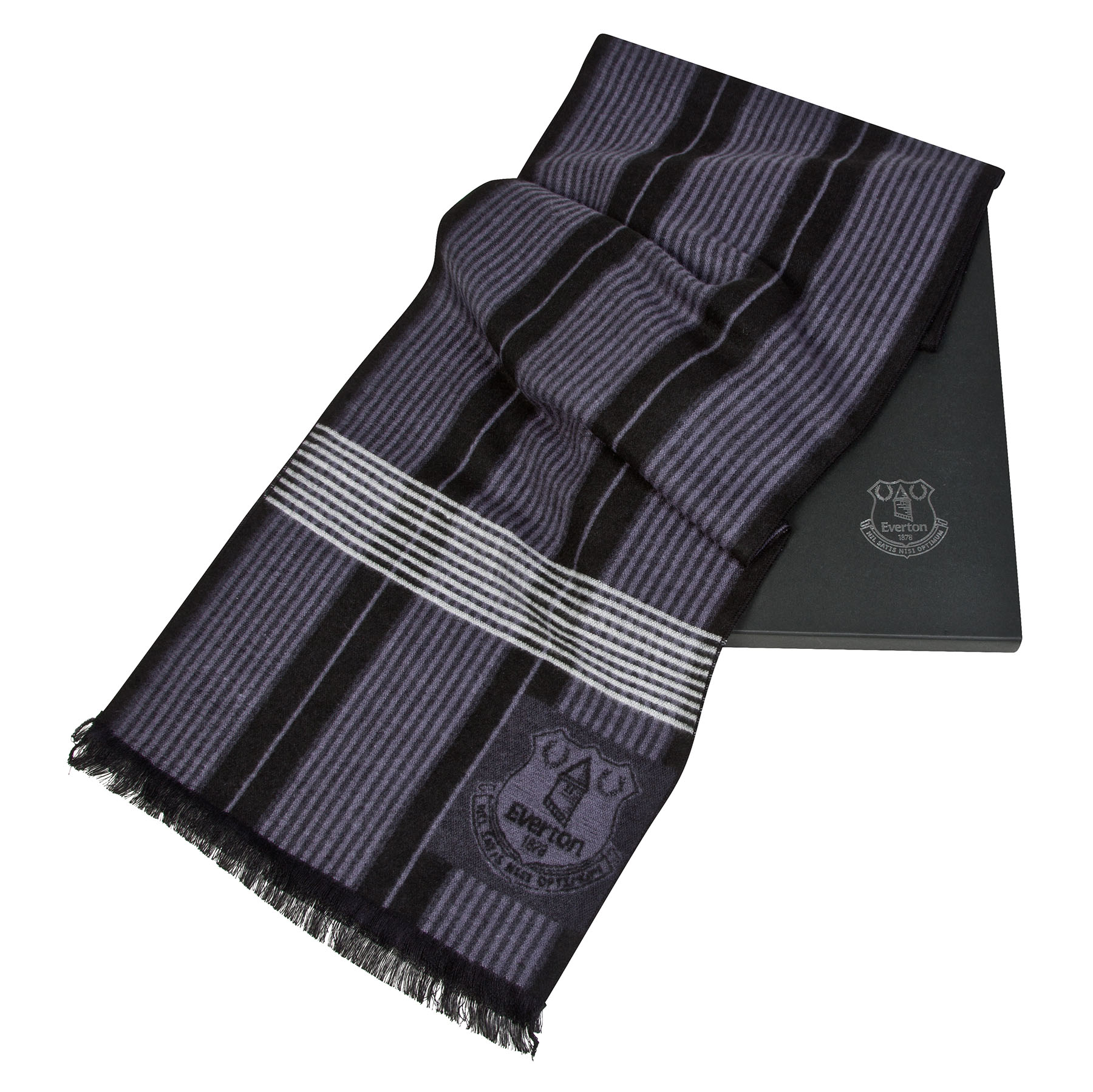 Everton Luxury Boxed Scarf - Black - Adult
