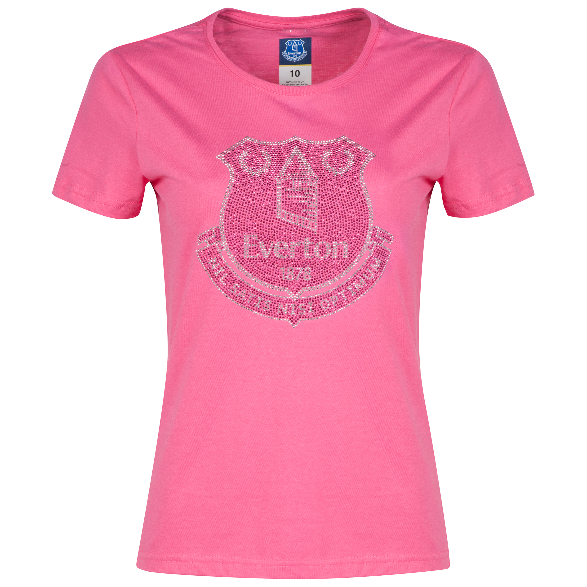 Everton Rhinestone-T-Shirt - Pink - Womens