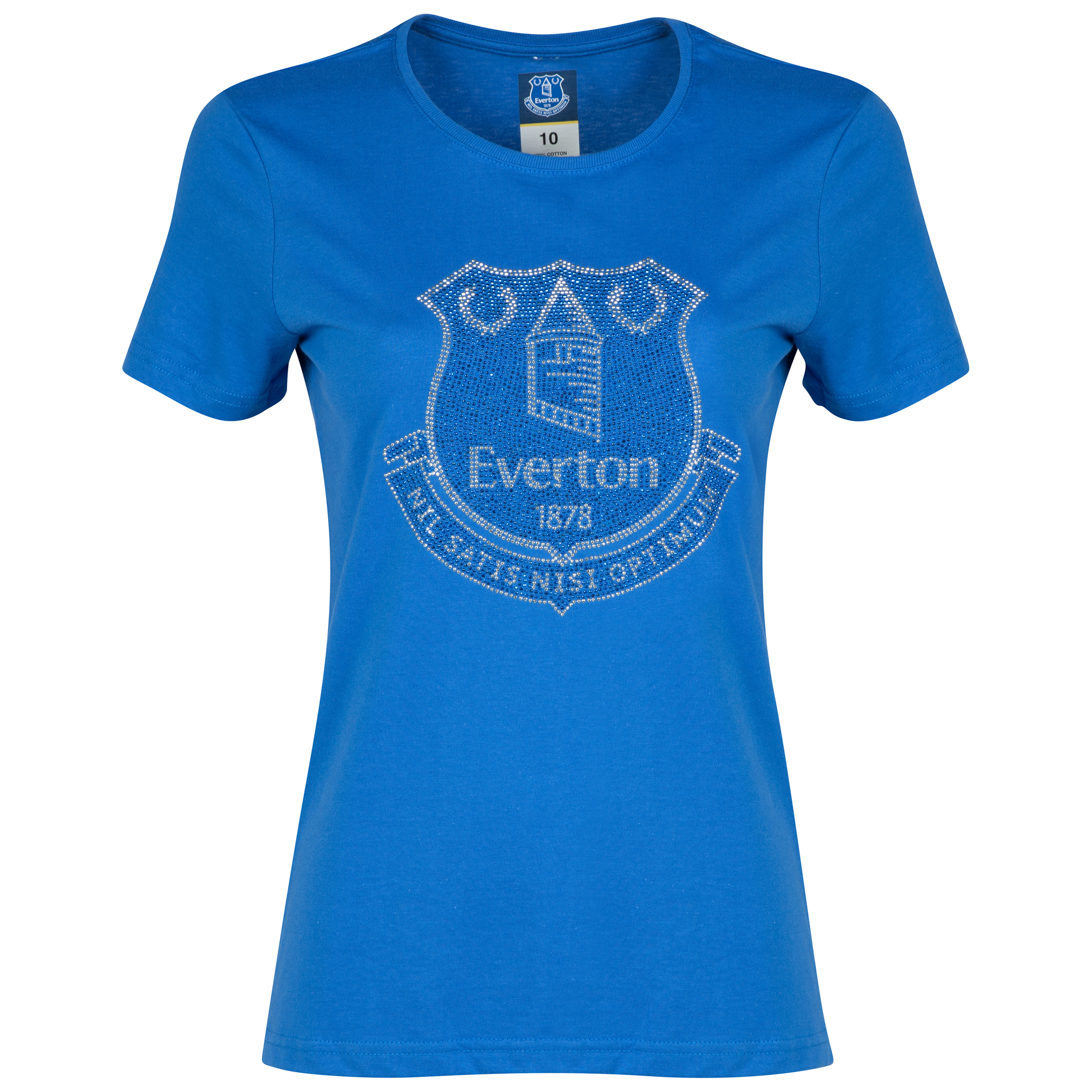 Everton Rhinestone-T-Shirt- Royal Blue - Womens