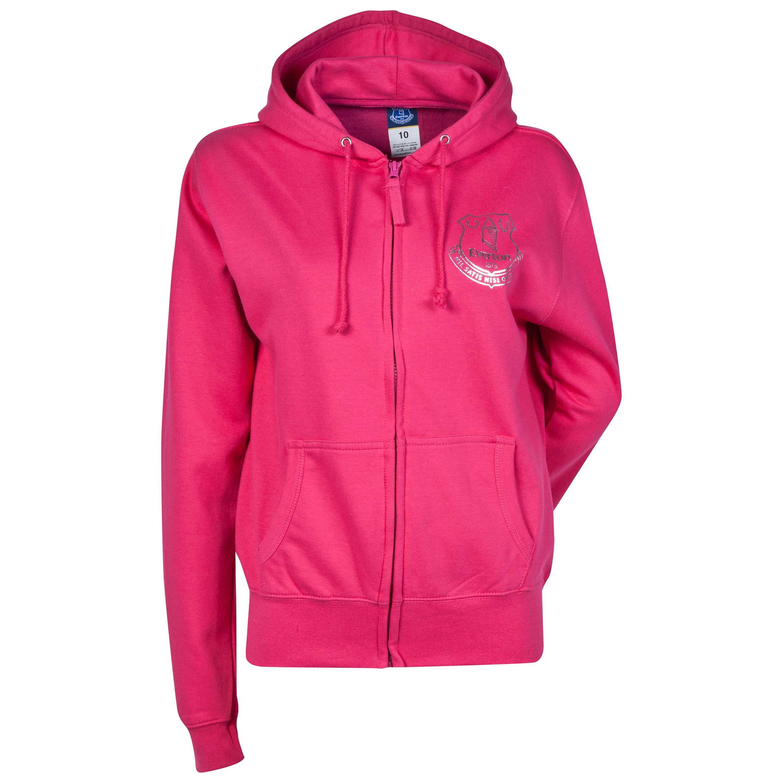 Everton Rhinestone Hoodie- Pink - Womens