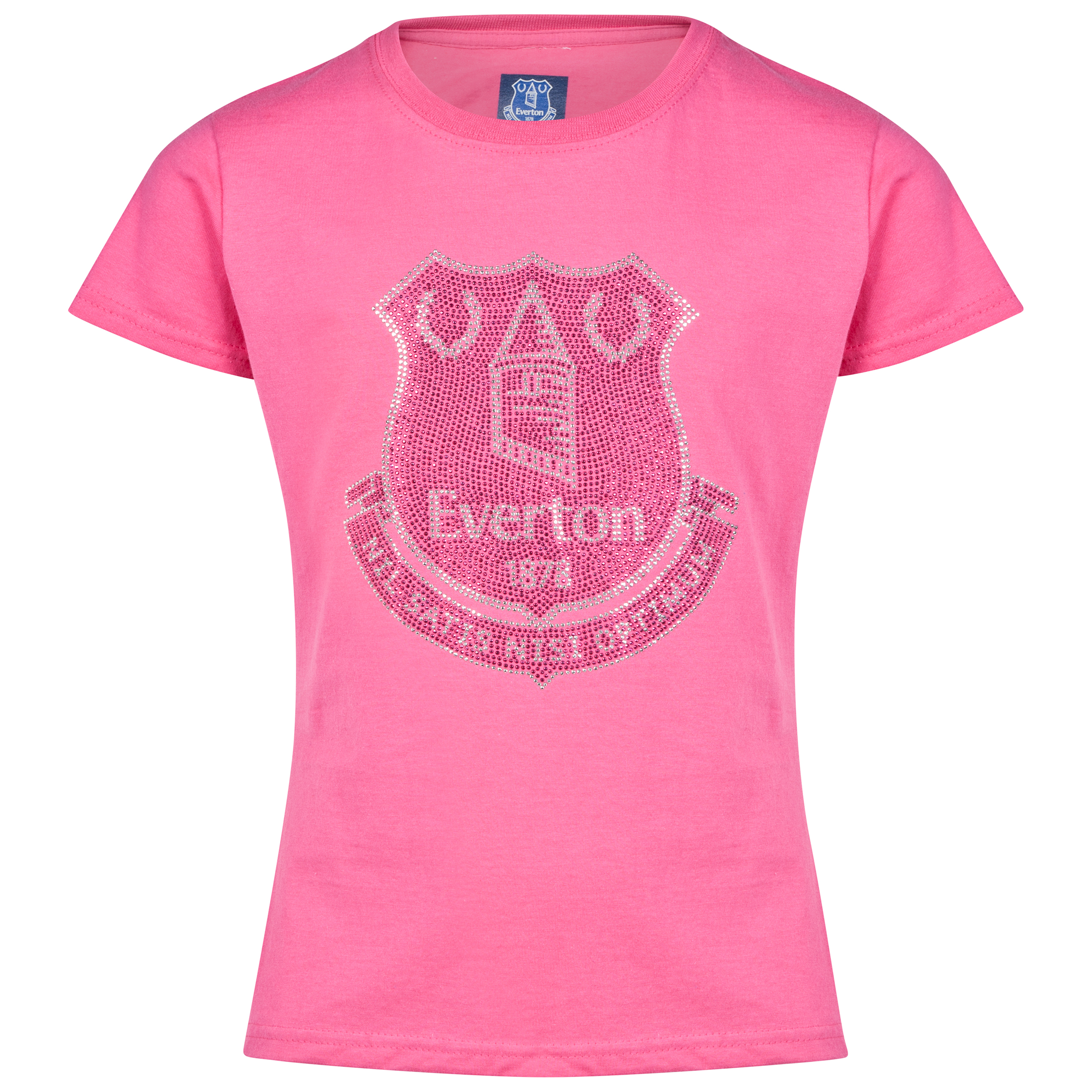 Everton Rhinestone-T-Shirt- Pink - Girls
