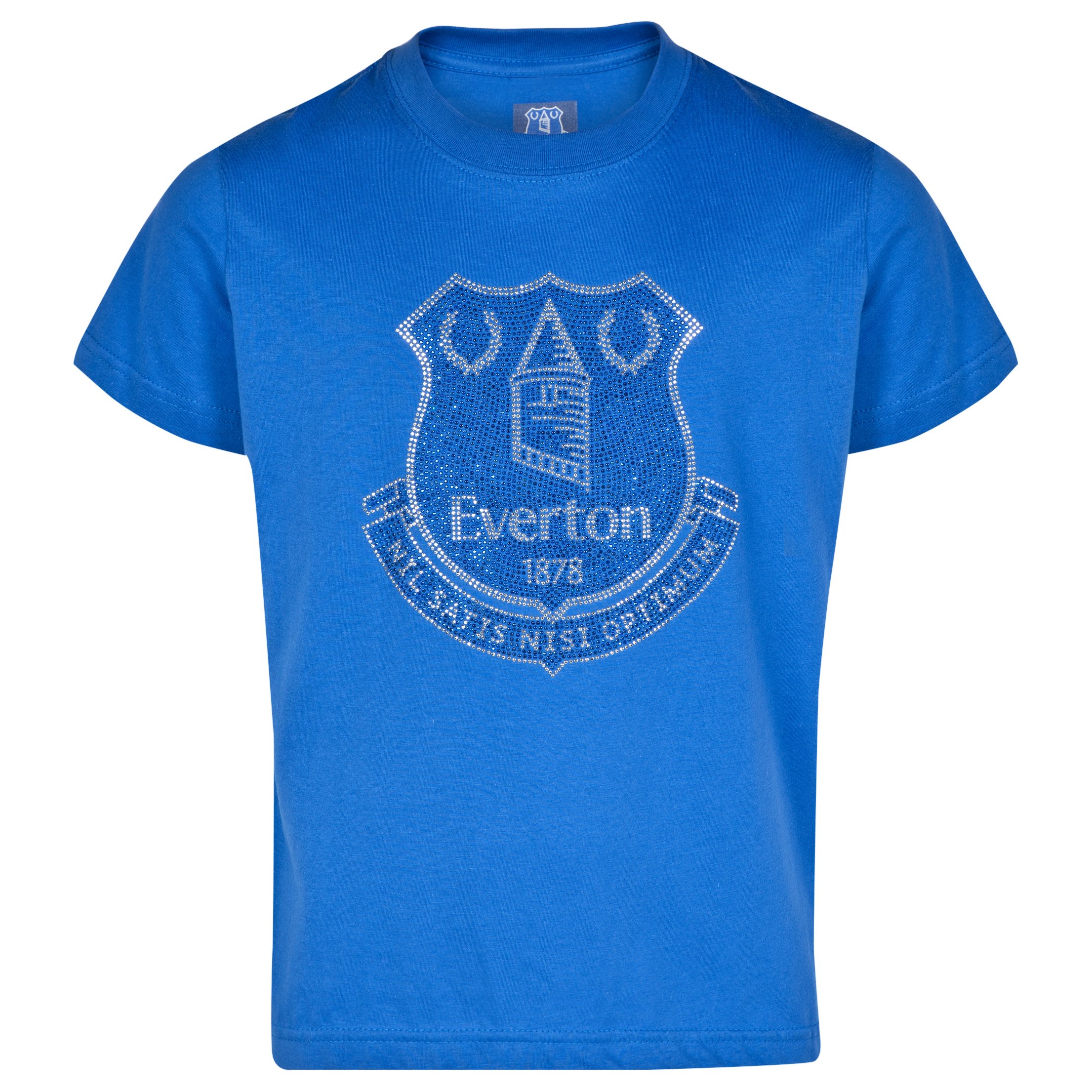 Everton Rhinestone-T-Shirt- Royal -Girls