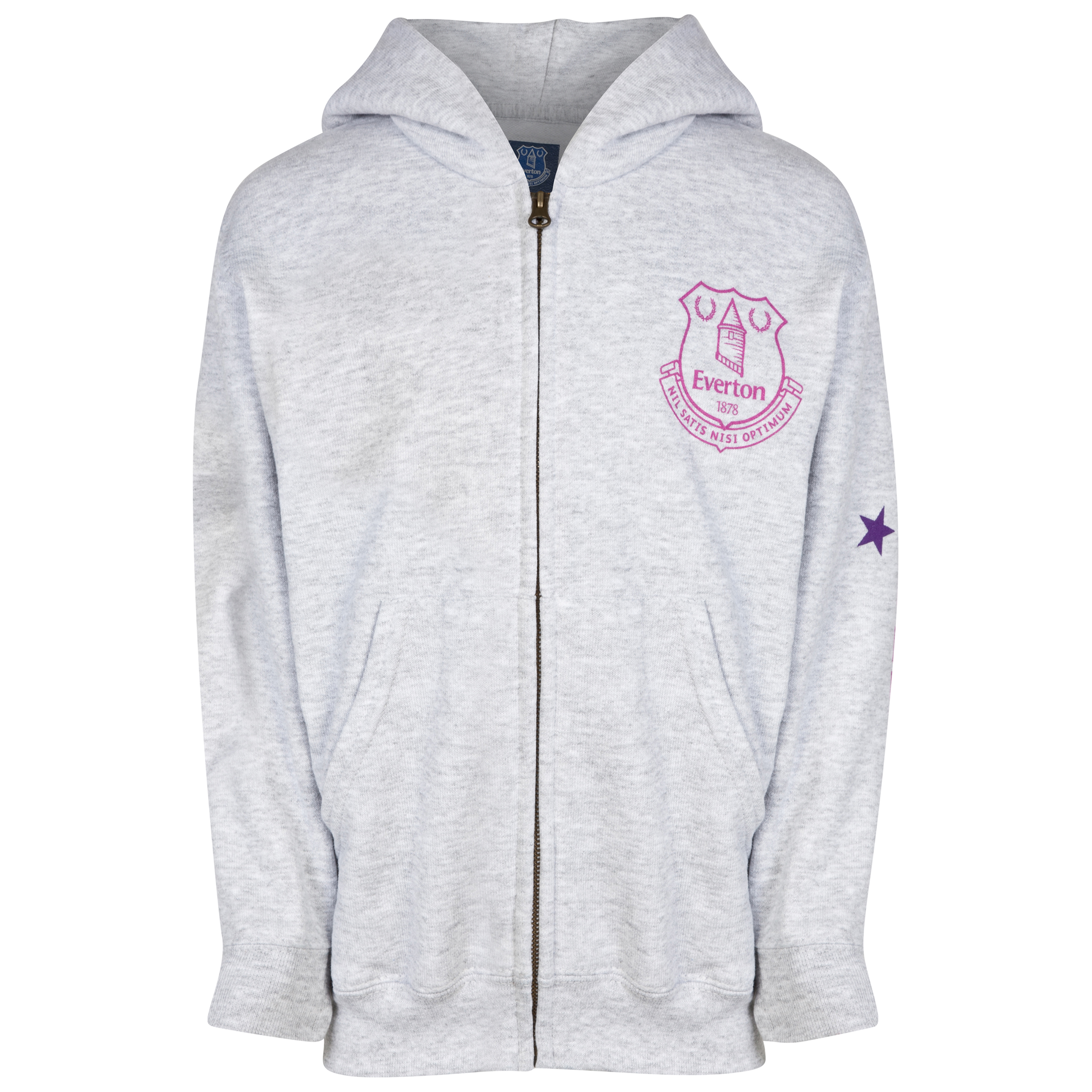 Everton Rhinestone Hoodie- Grey -Girls