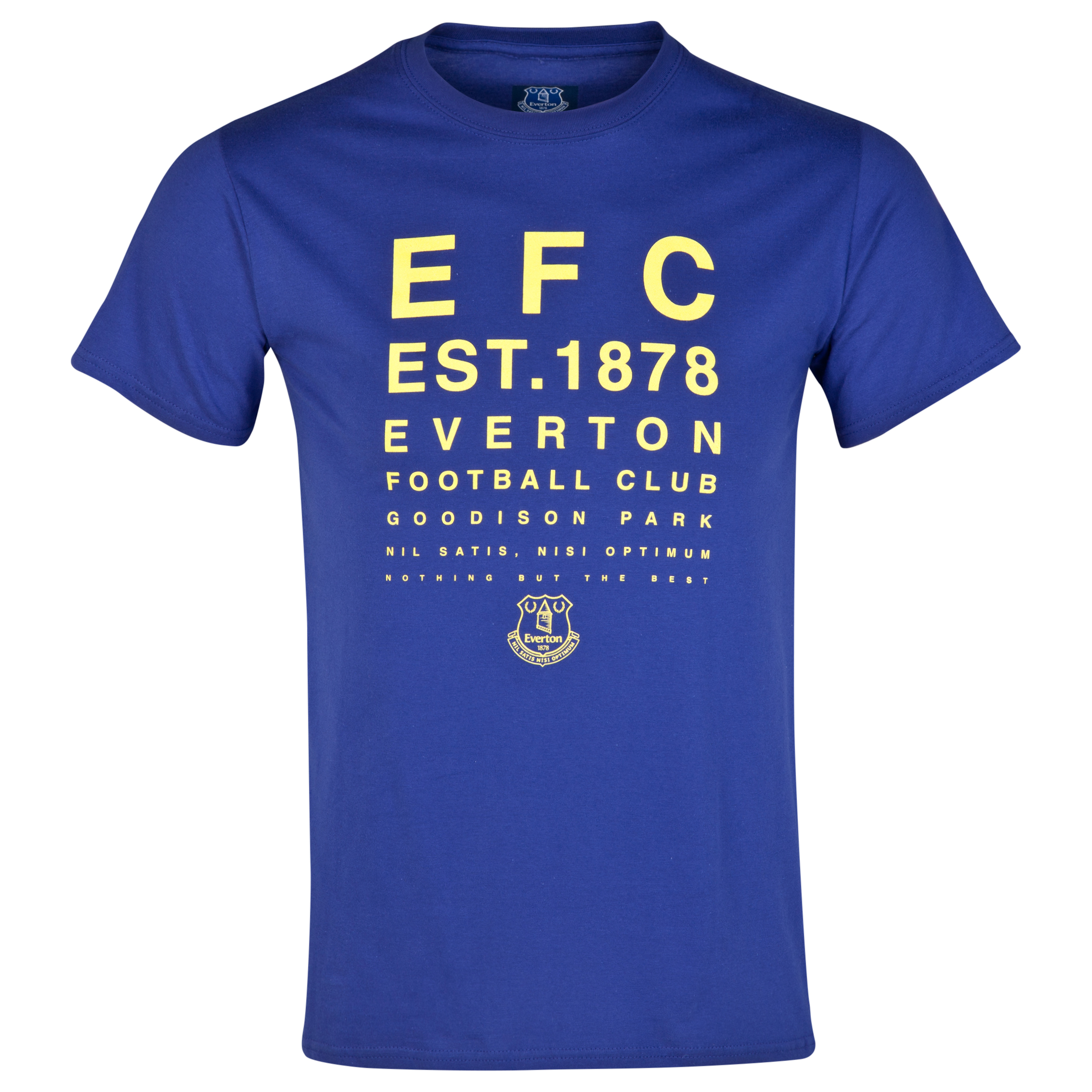 Everton 2for20 Test Card T-Shirt - Navy