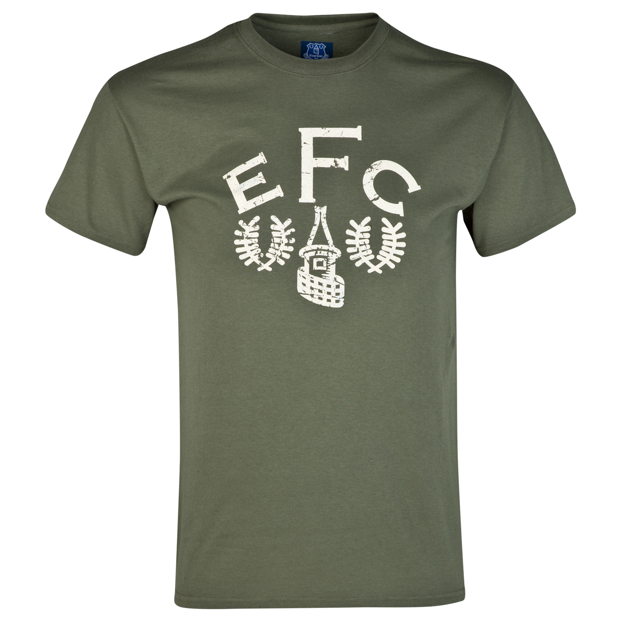 Everton 2for20 Heritage Crest T-Shirt - Military Green