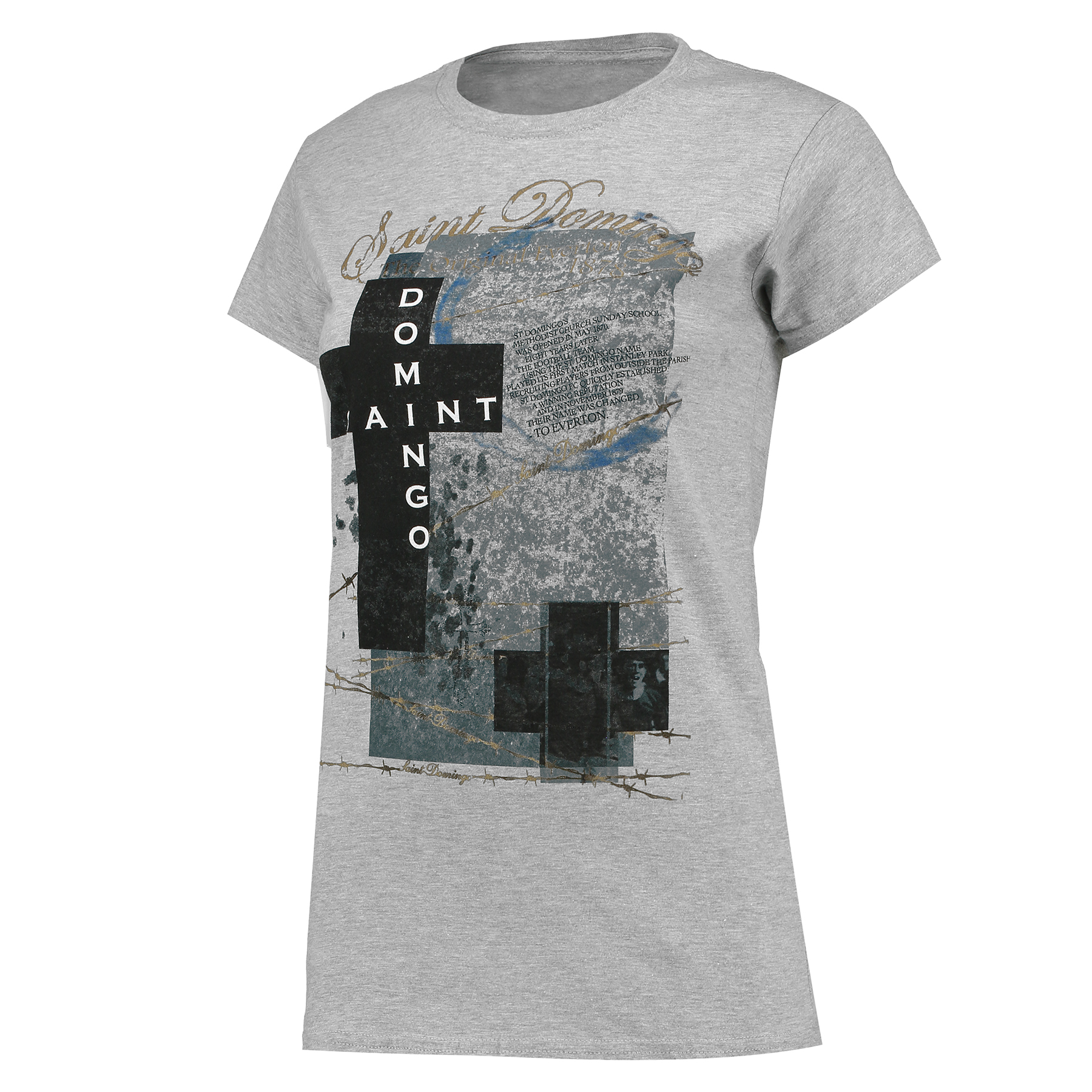 Everton 2for20 Saint Domingo T-Shirt - Grey - Womens