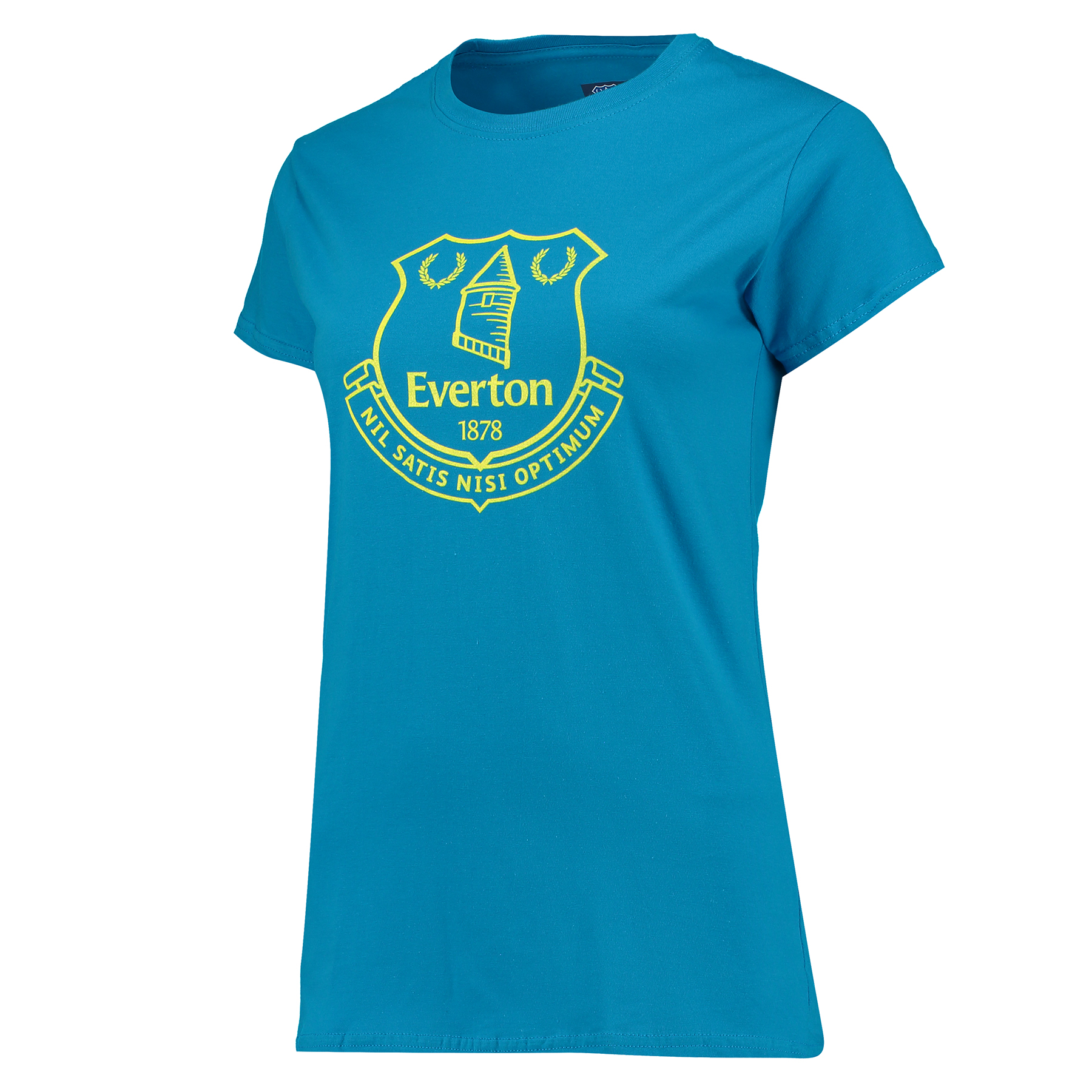 Everton 2for20 Crest T-Shirt - Azure Blue - Womens