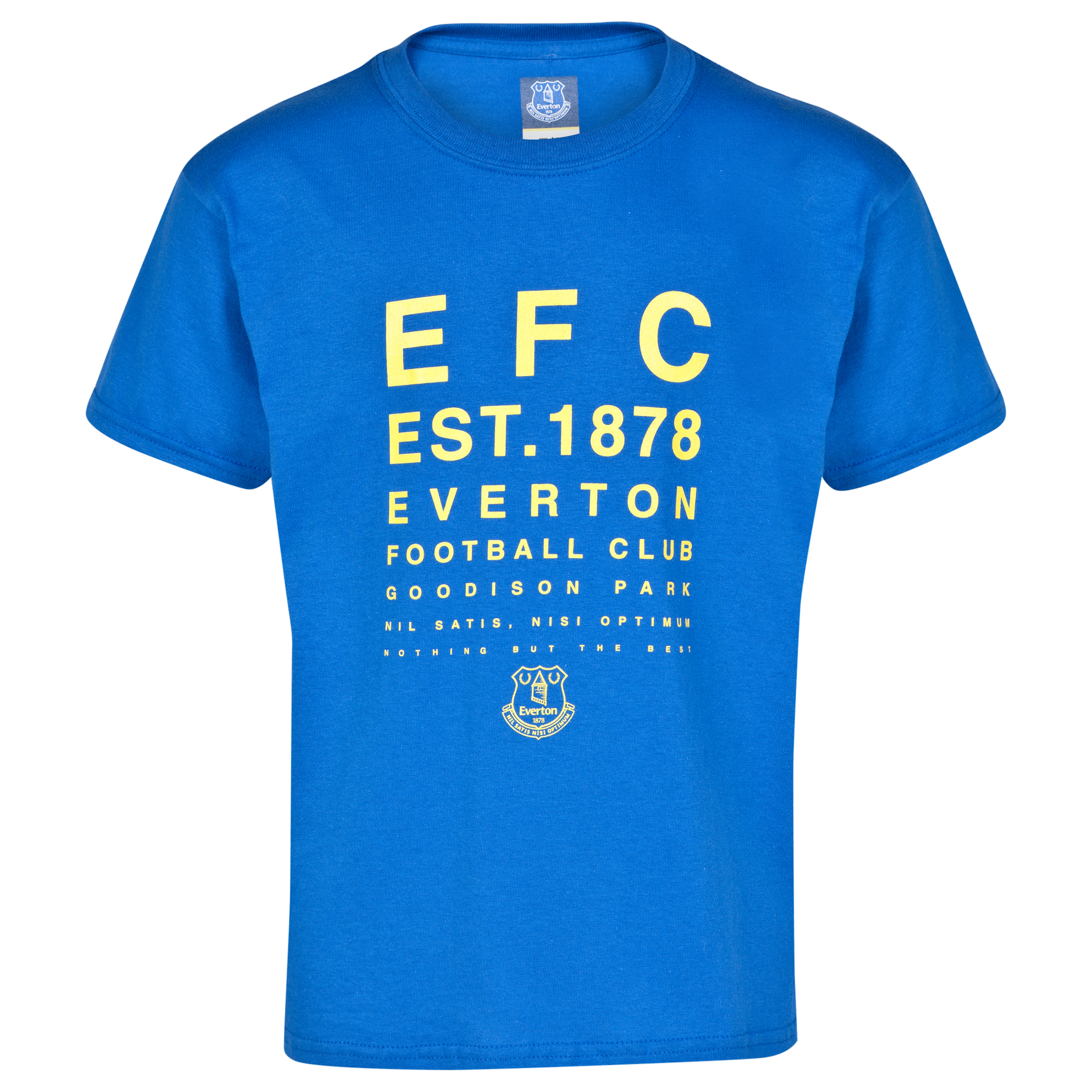 Everton 2for15 Test Card T-Shirt - Junior - Royal Blue