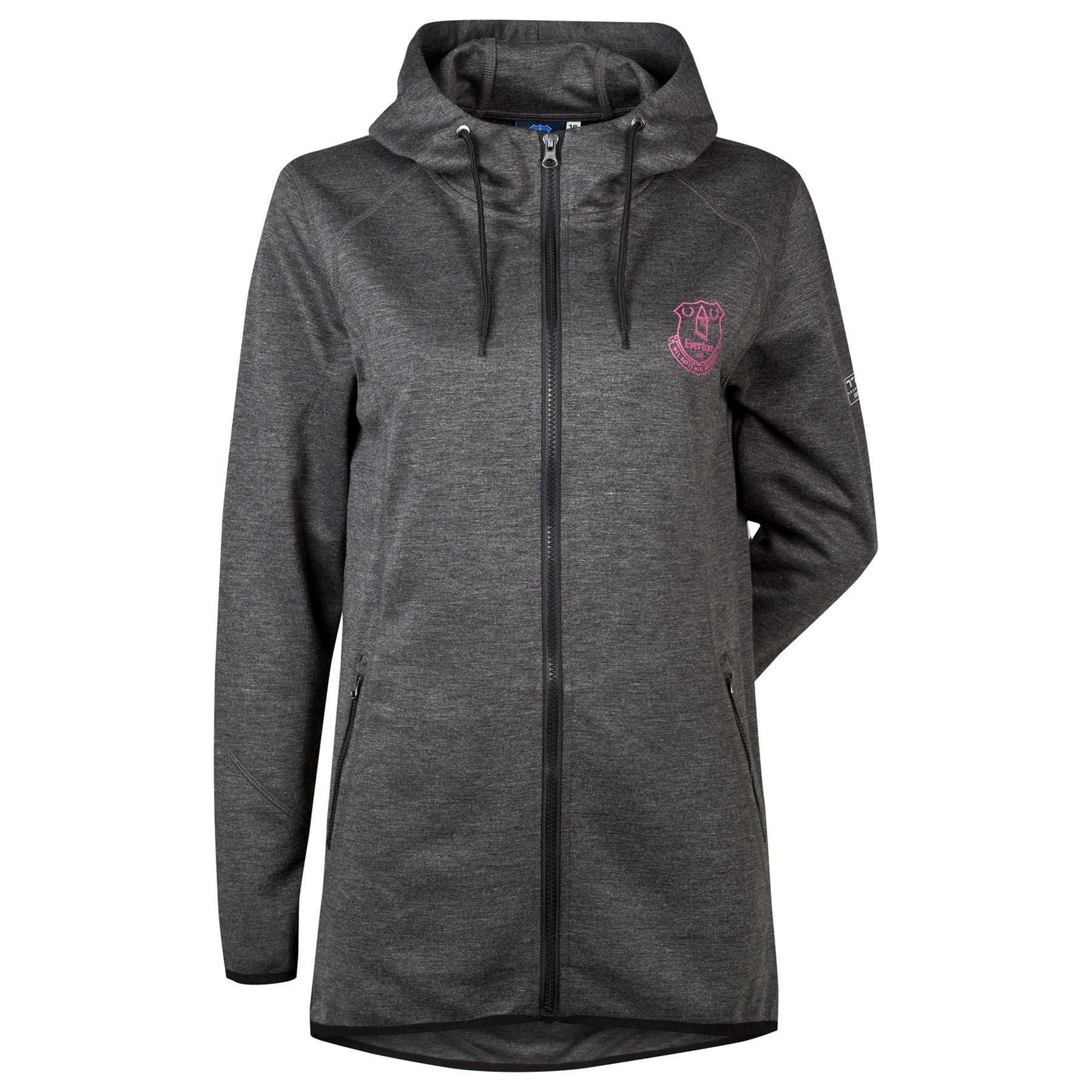 Everton Performance Tech hoodie - Charcoal Marl - Womens