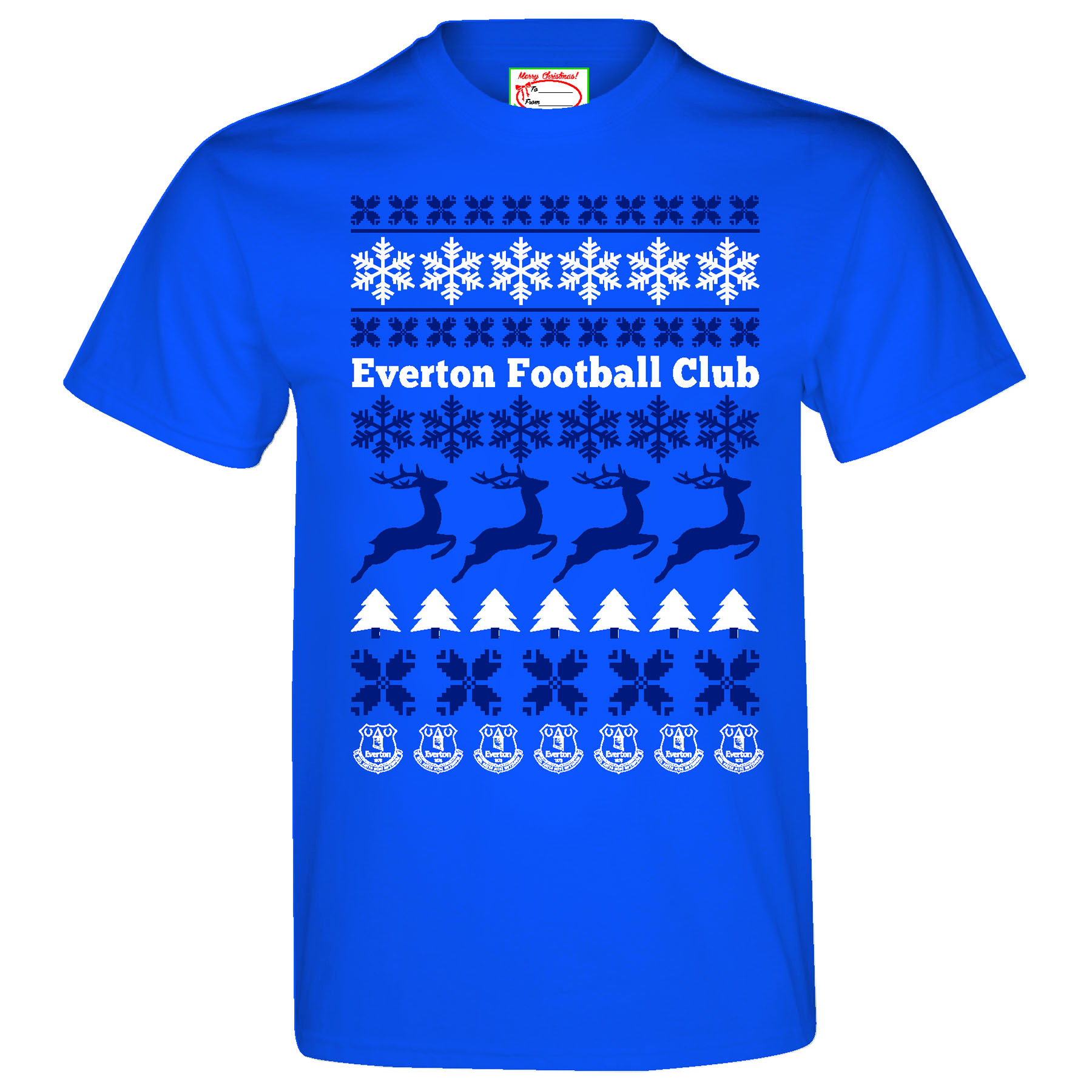 Everton 2for20 Festive T-Shirt - Royal - Mens