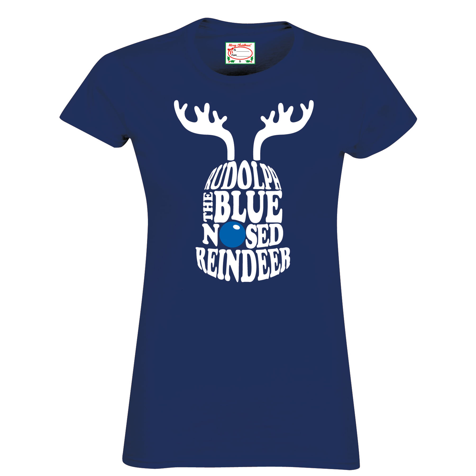 Everton 2for 20 reindeer T-Shirt- Navy - Womens