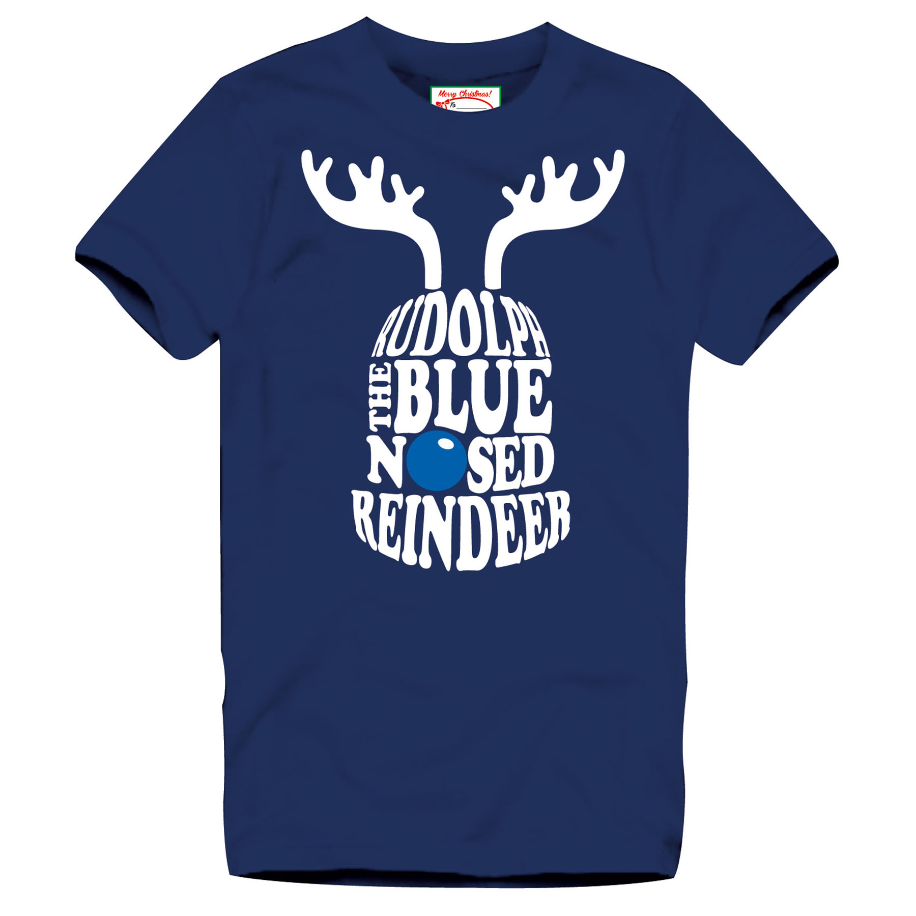 Everton 2for15 Reindeer T-Shirt - Navy - Junior