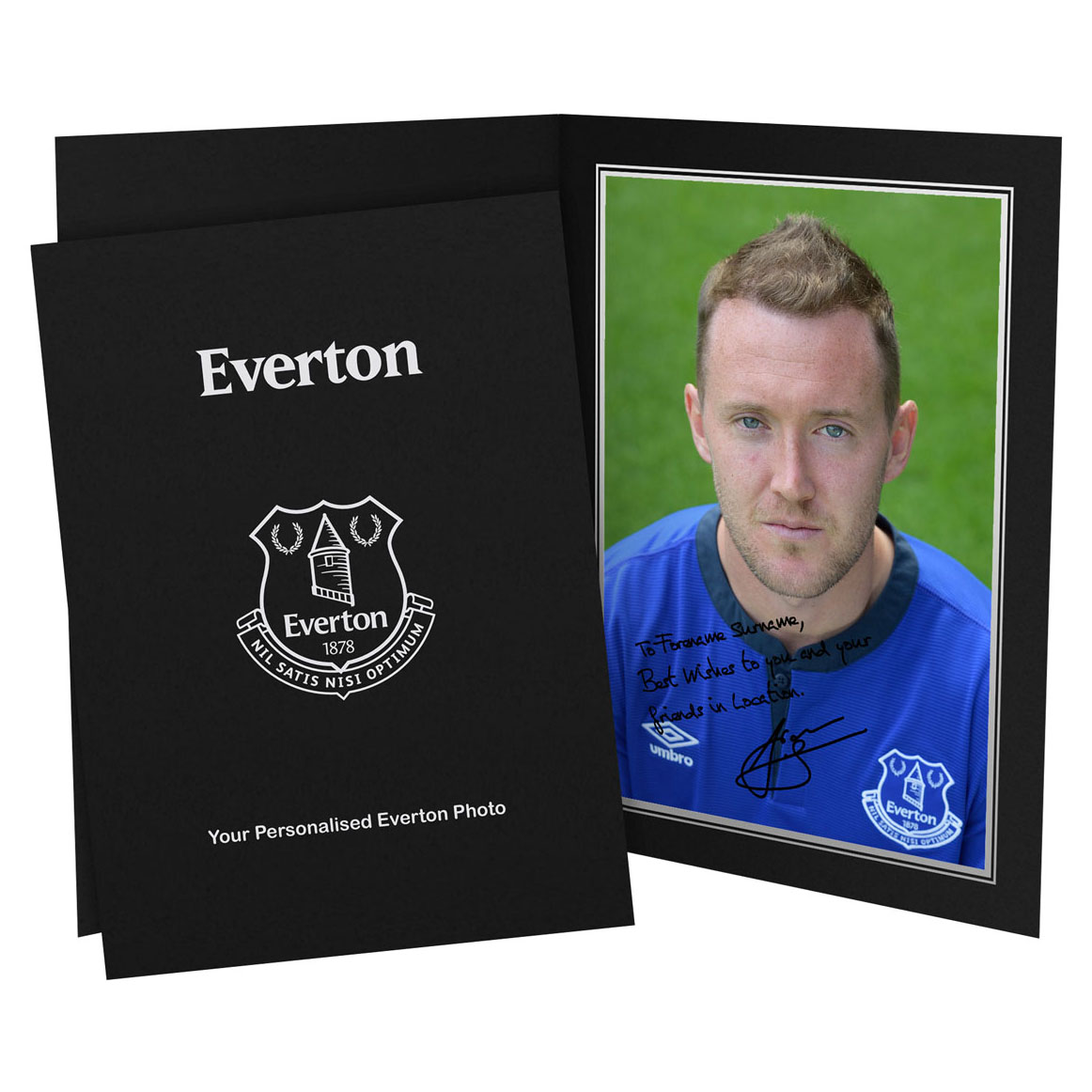 Everton Personalised Signature Photo in Presentation Folder - McGeady