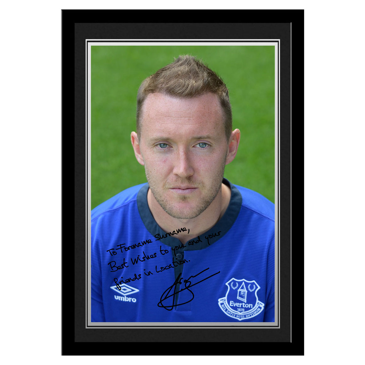 Everton Personalised Signature Photo Framed - McGeady