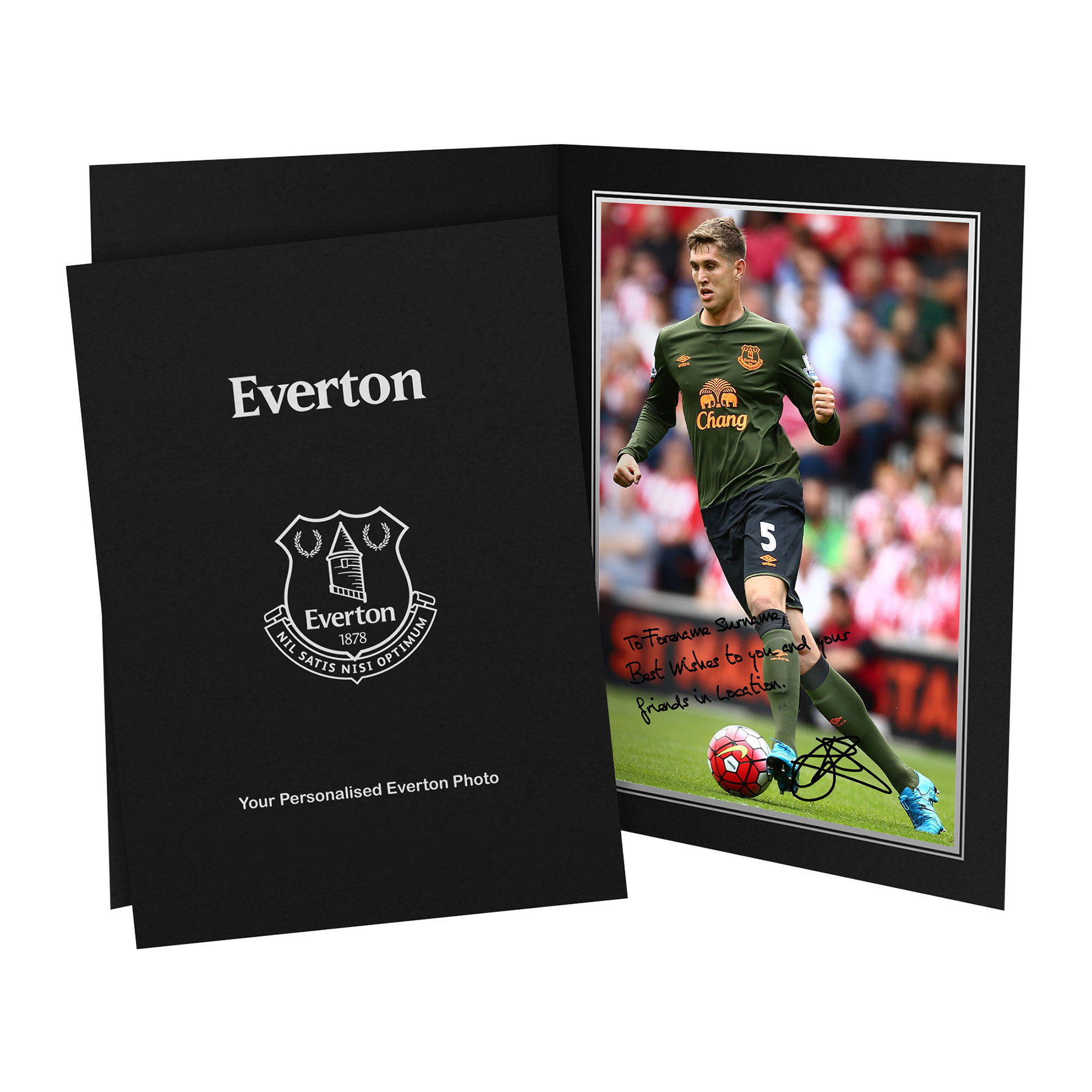Everton Personalised Signature Photo in Presentation Folder - Stones