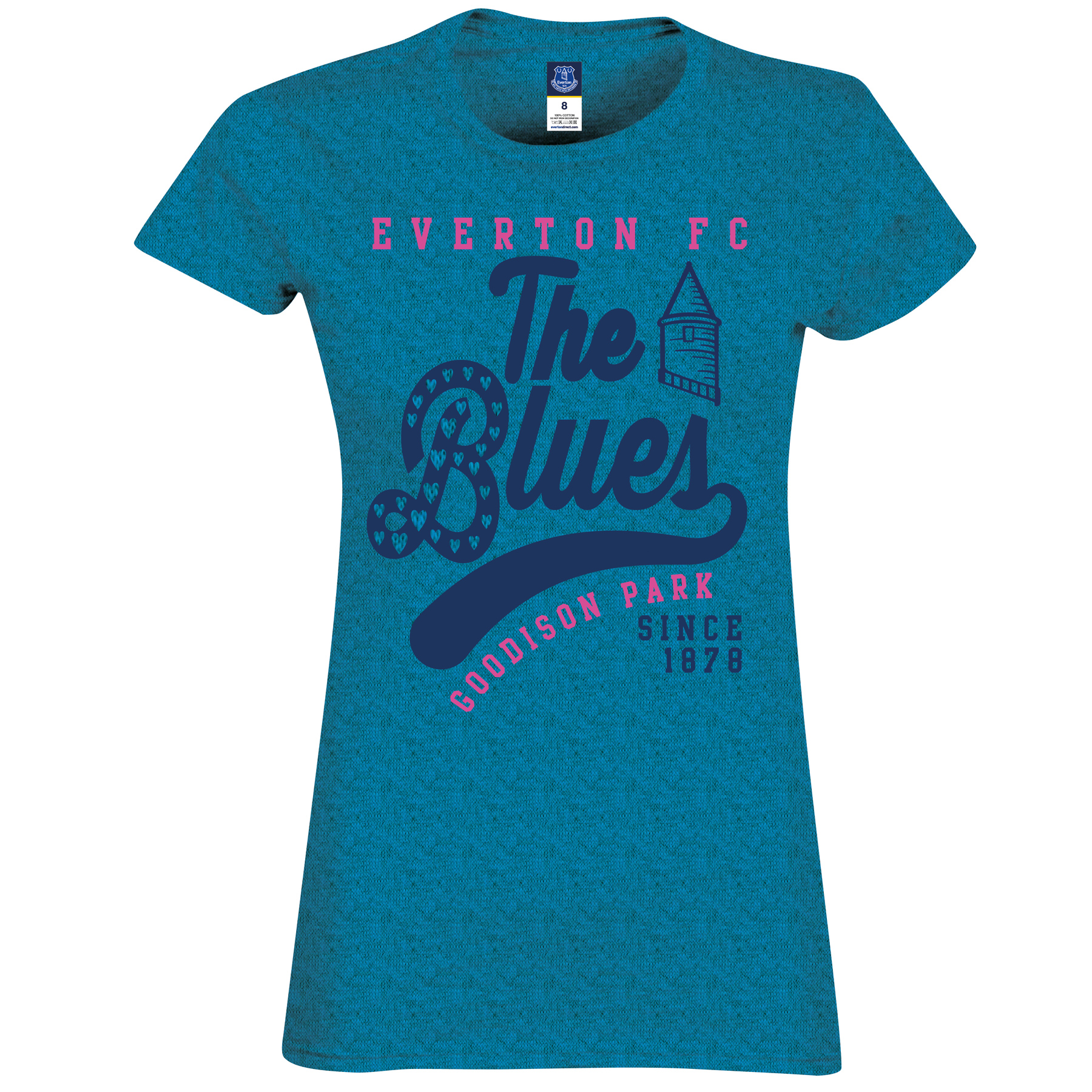 Everton 2 for 20 The Blues T-Shirt - Antique Sapphire - Womens