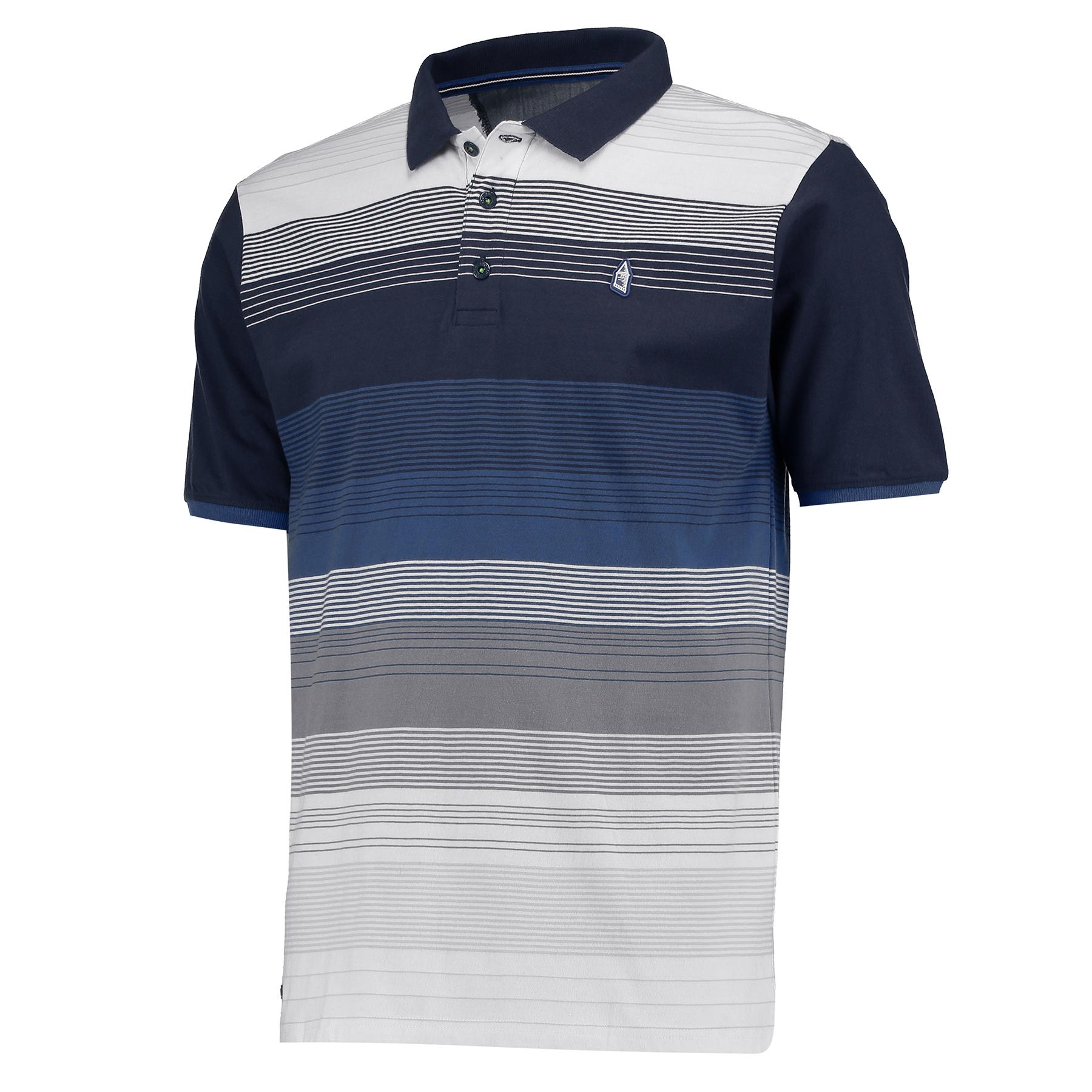 Everton Stripe Polo - Navy/White - Mens