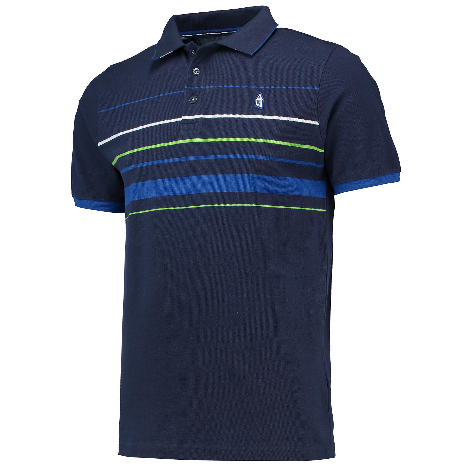 Everton Under Collar Polo - Navy - Mens