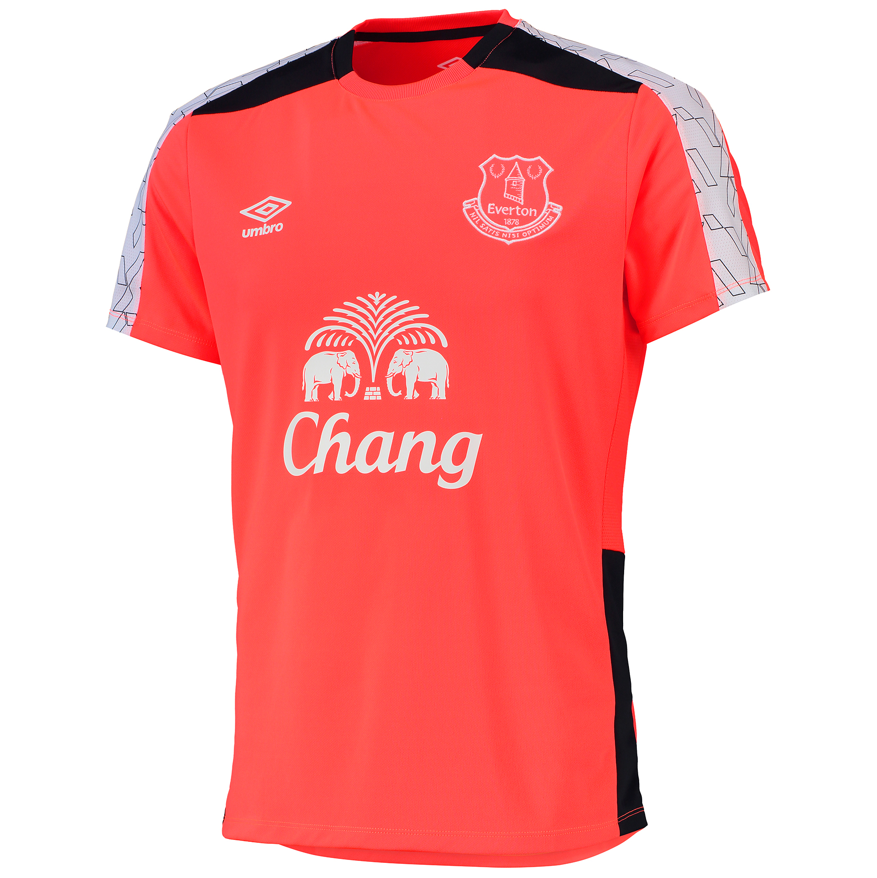 Everton Training Jersey - Fiery Coral/Galaxy/White
