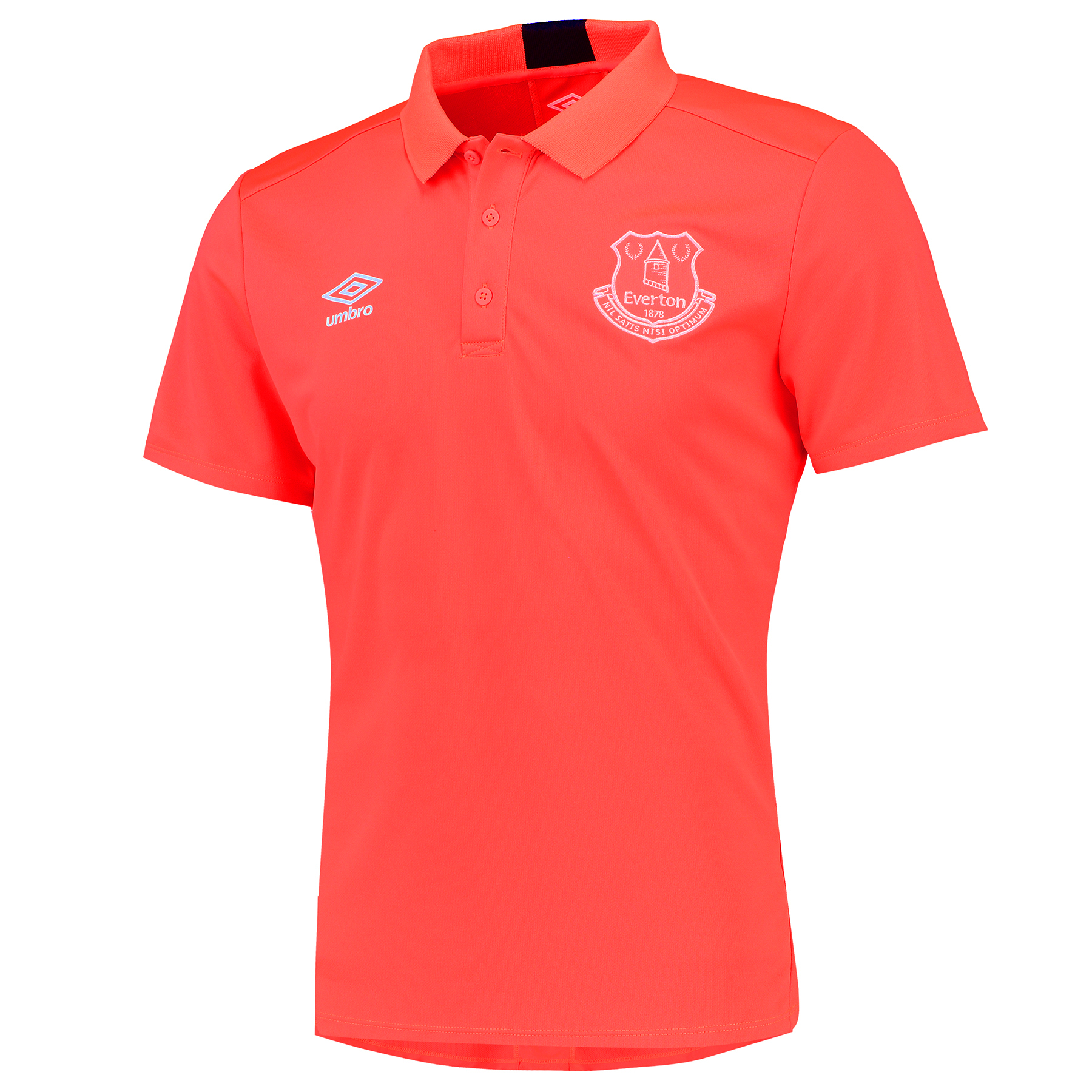 Everton Training Poly Polo - Fiery Coral/Galaxy