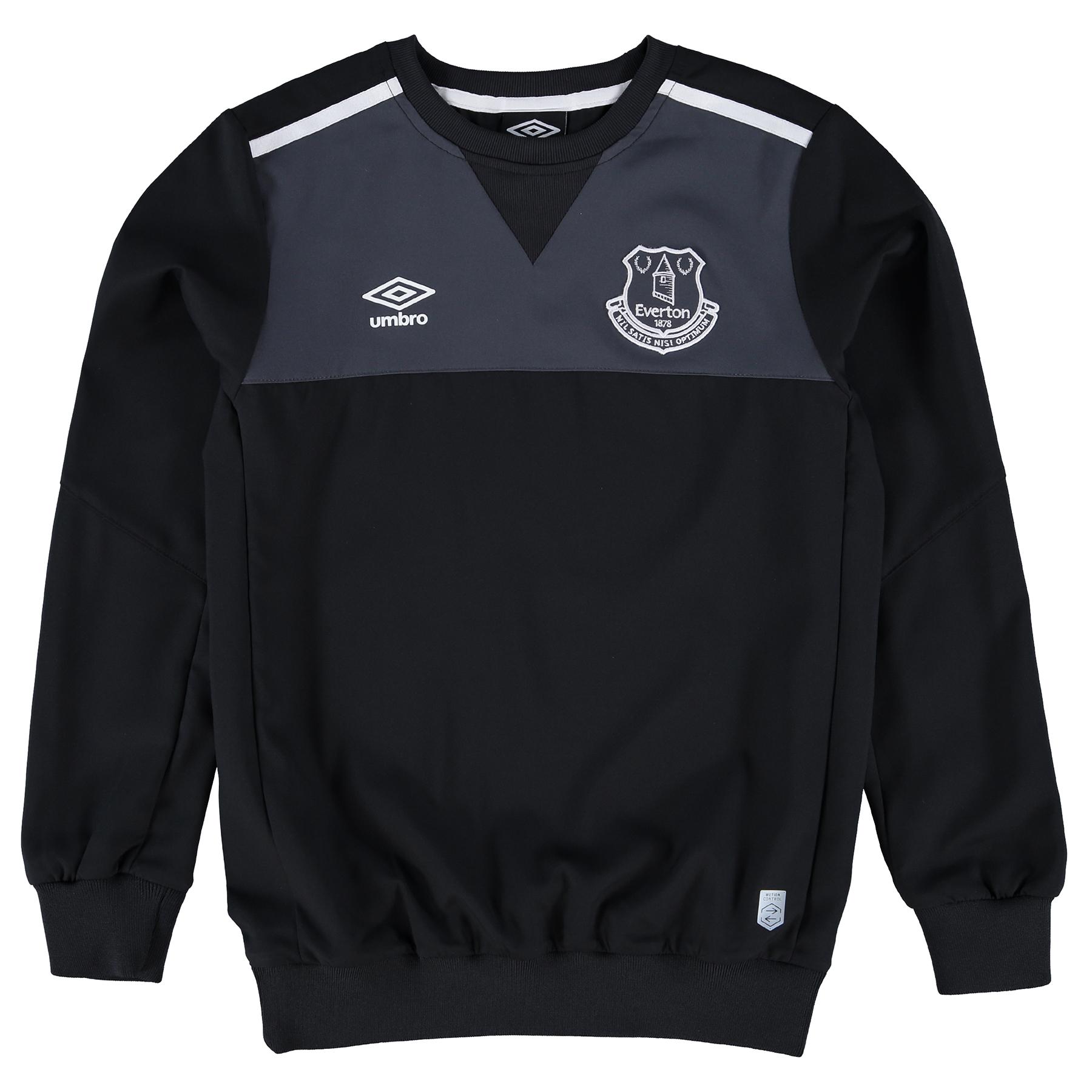 Everton Training Drill Top - Junior - Black/Carbon/White