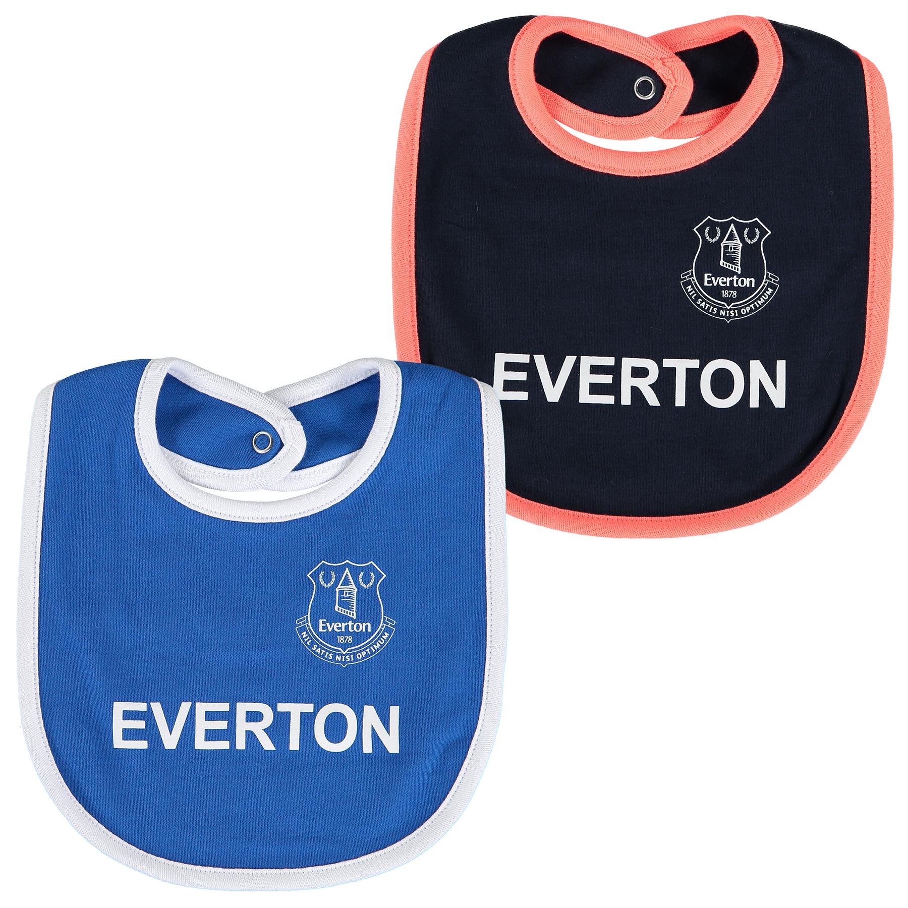 Everton 2 Pack Bib - Royal/Navy - Baby