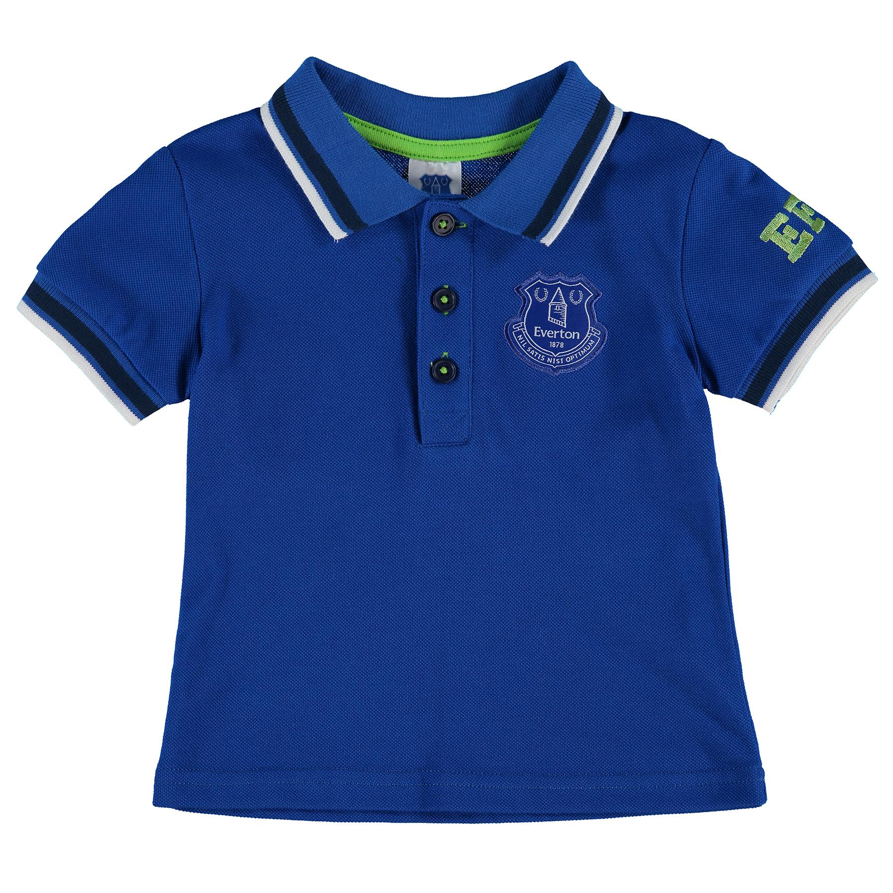 Everton Crest Polo - Royal - Baby