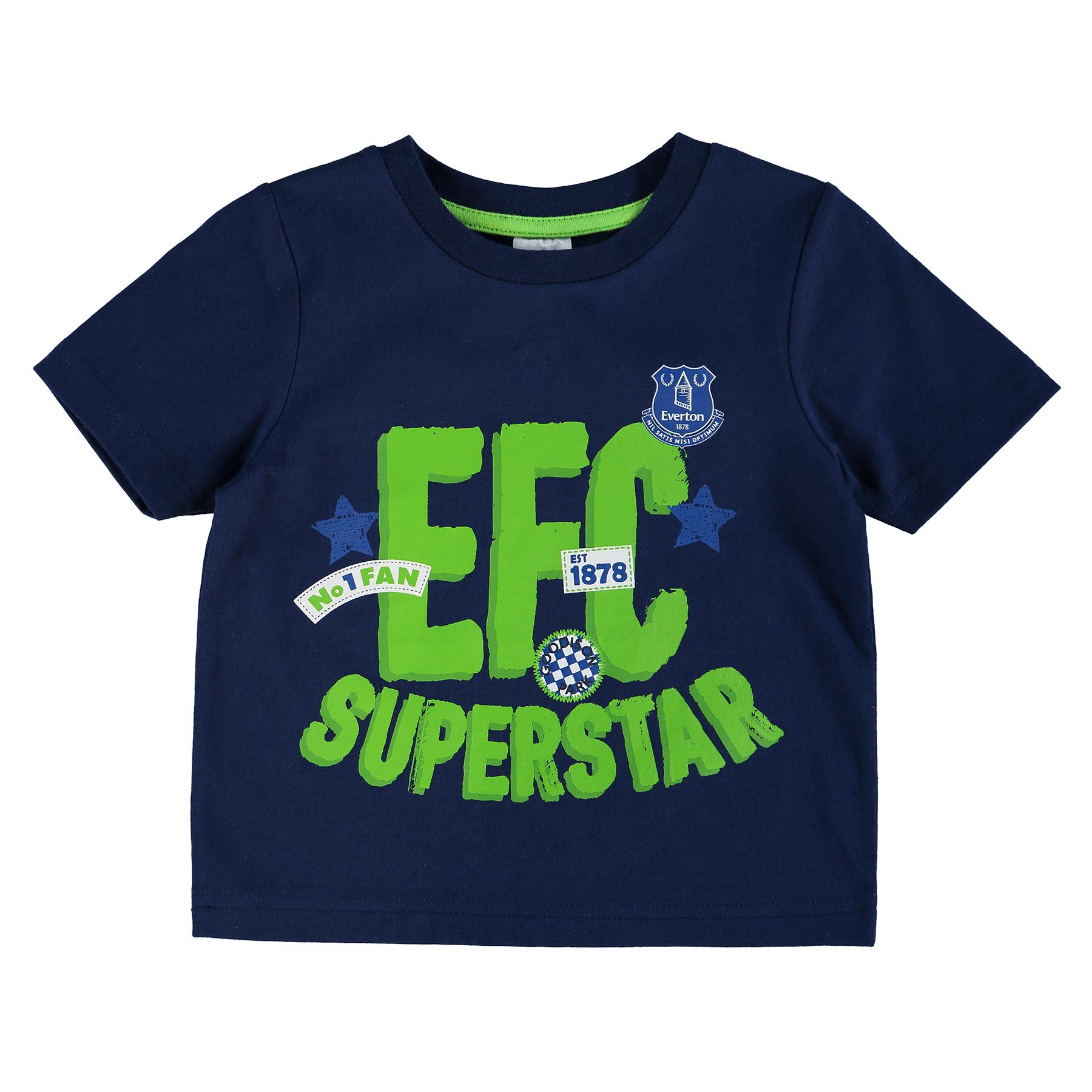 Everton Star T-Shirt - Navy - Baby