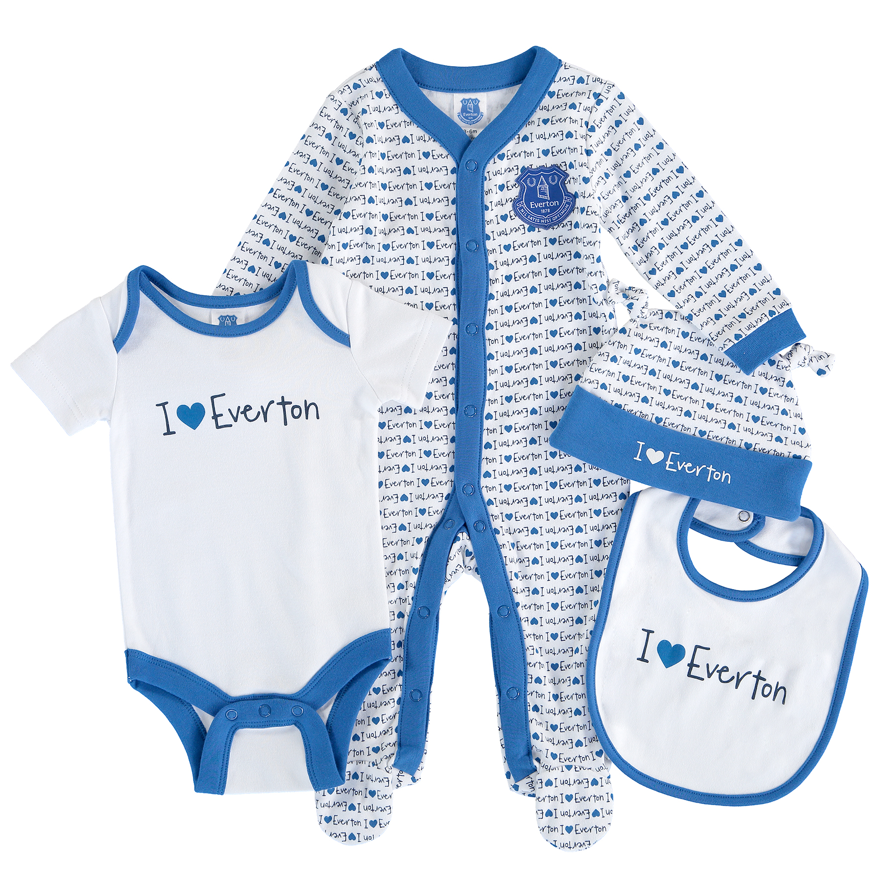 Everton 4 Piece Set - Royal/White - Baby