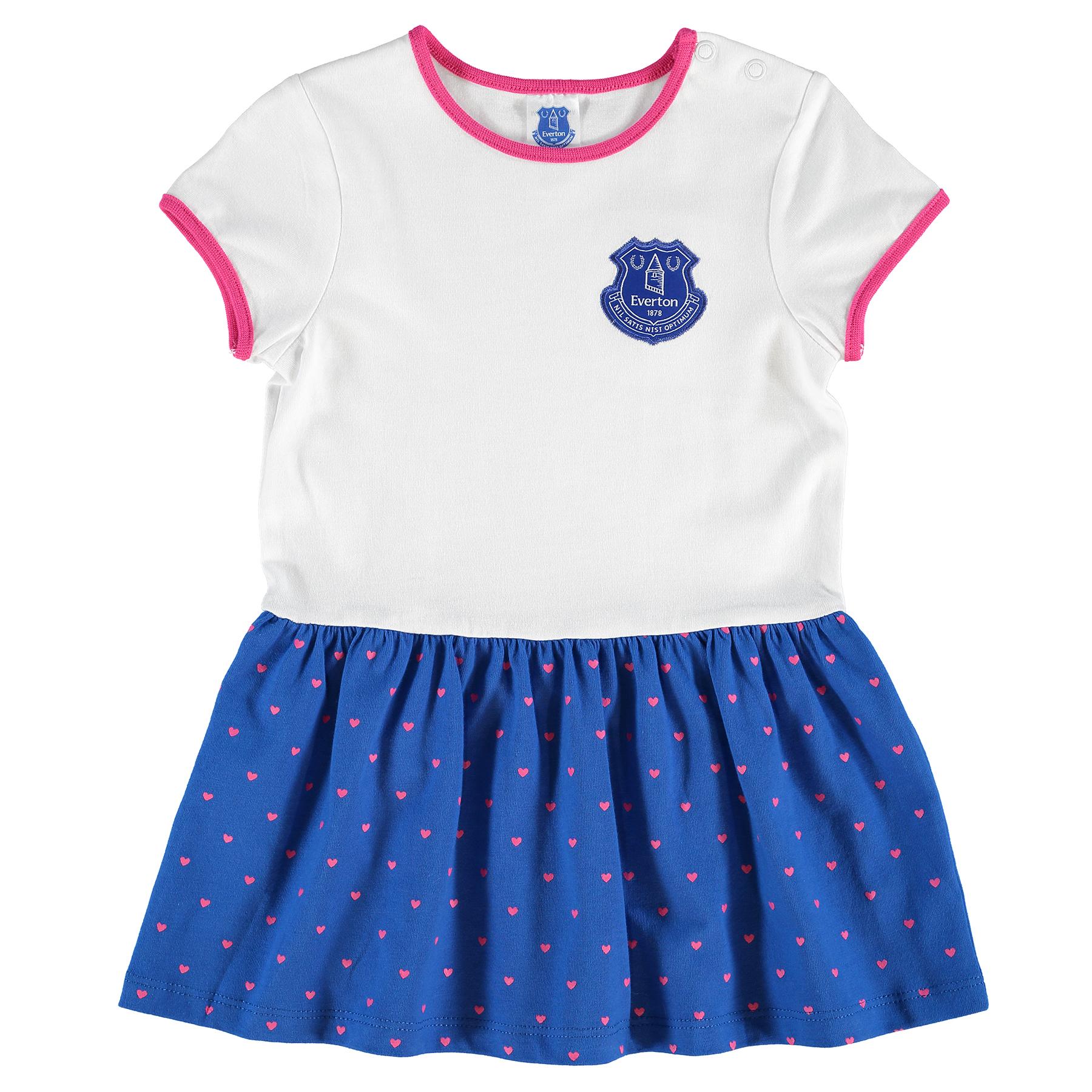 Everton Crest Dress - Royal/White - Baby