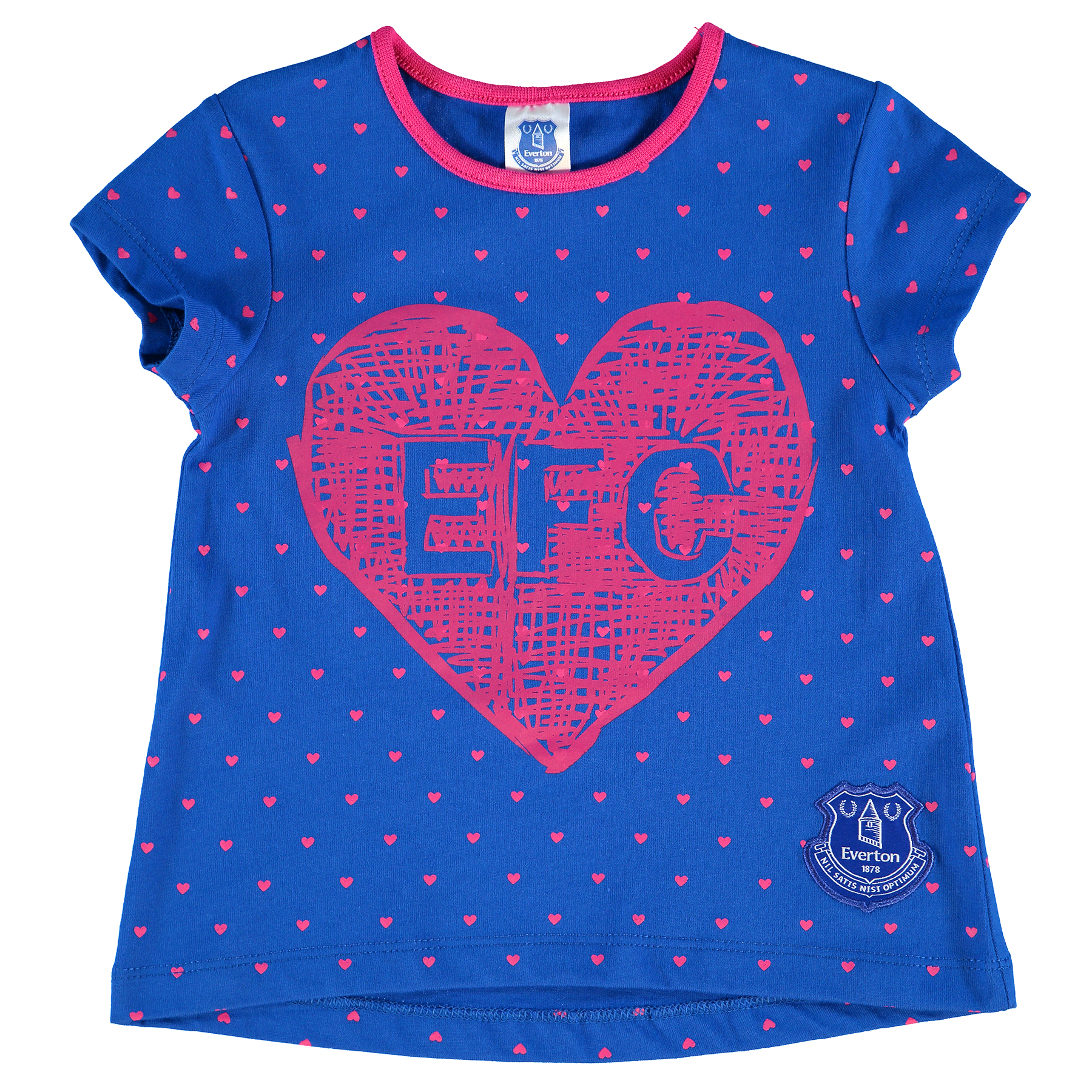 Everton Forever T-Shirt - Royal/Pink - Baby