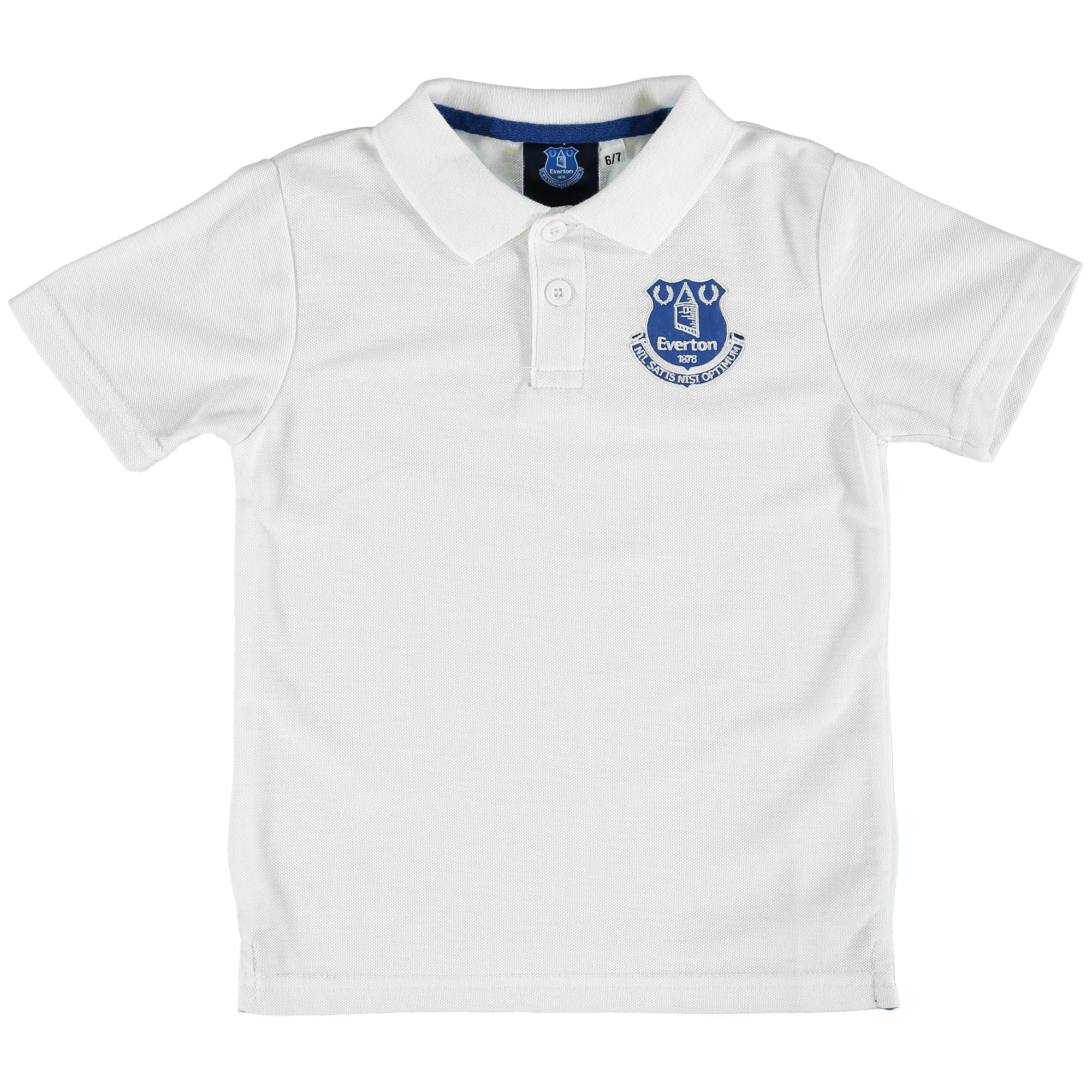 Everton Core Crest Polo Shirt - White - Junior