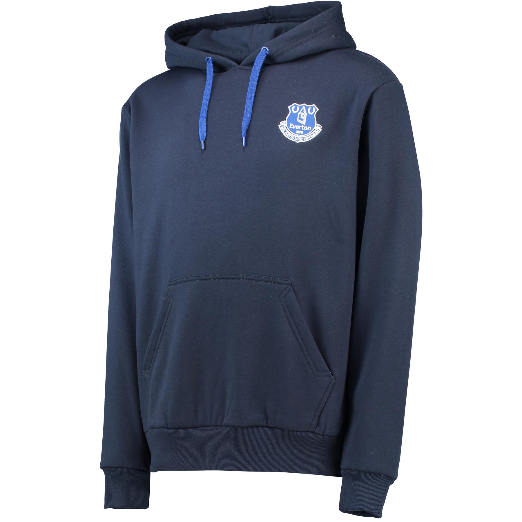 Everton Core Crest Hoodie - Navy