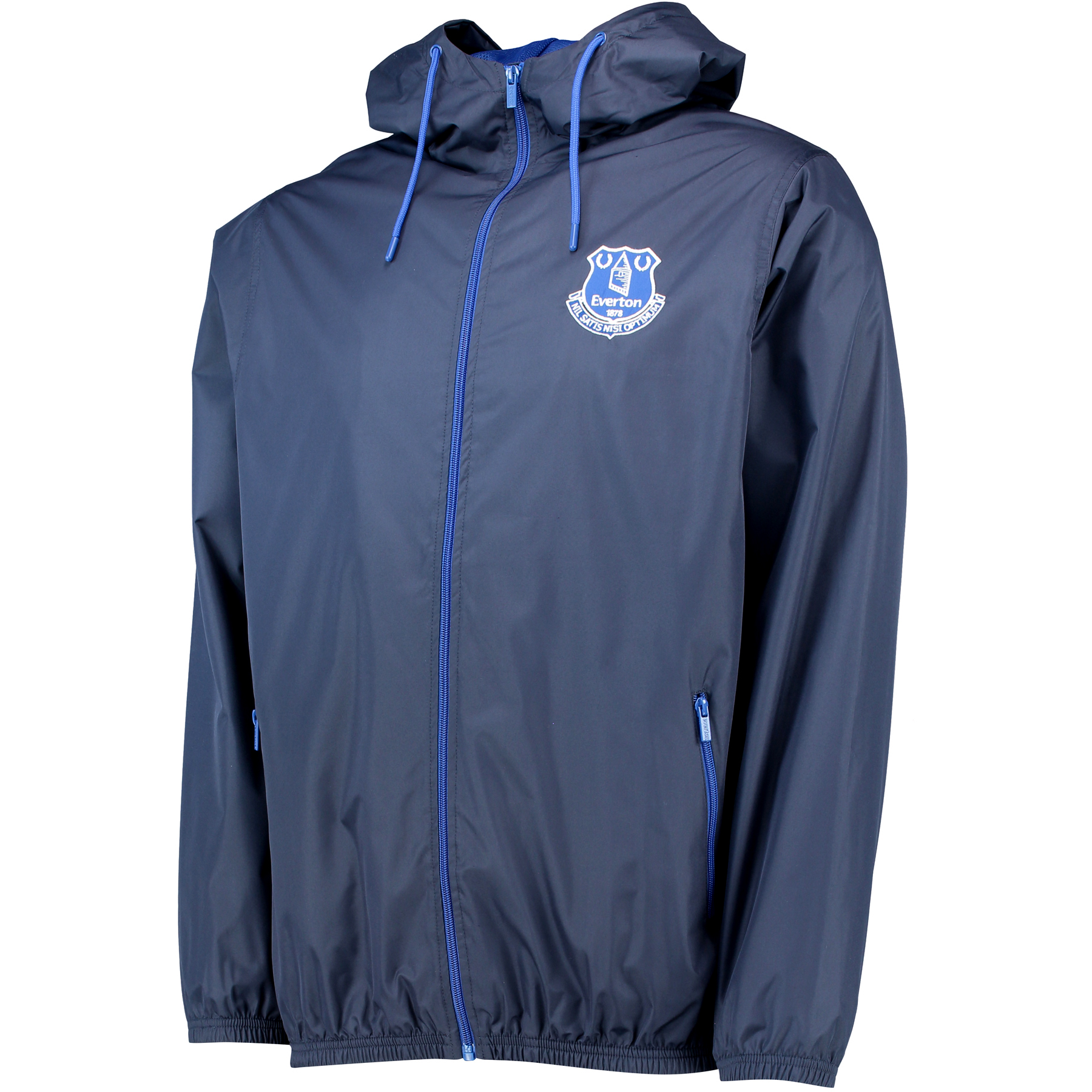 Everton Core Crest Shower Jacket - Navy
