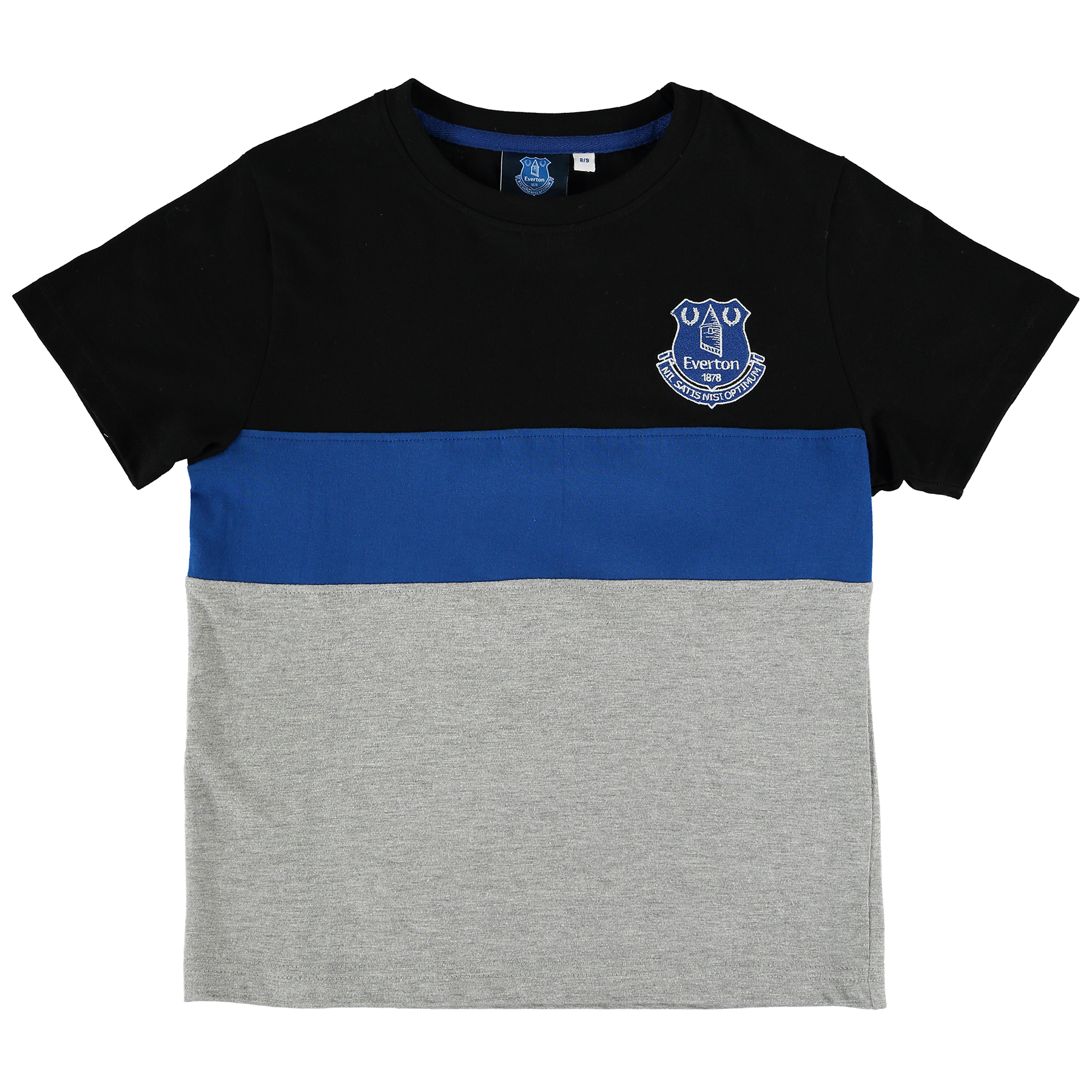 Everton Essentials Block T-Shirt - Grey Marl/Black/Royal - Junior