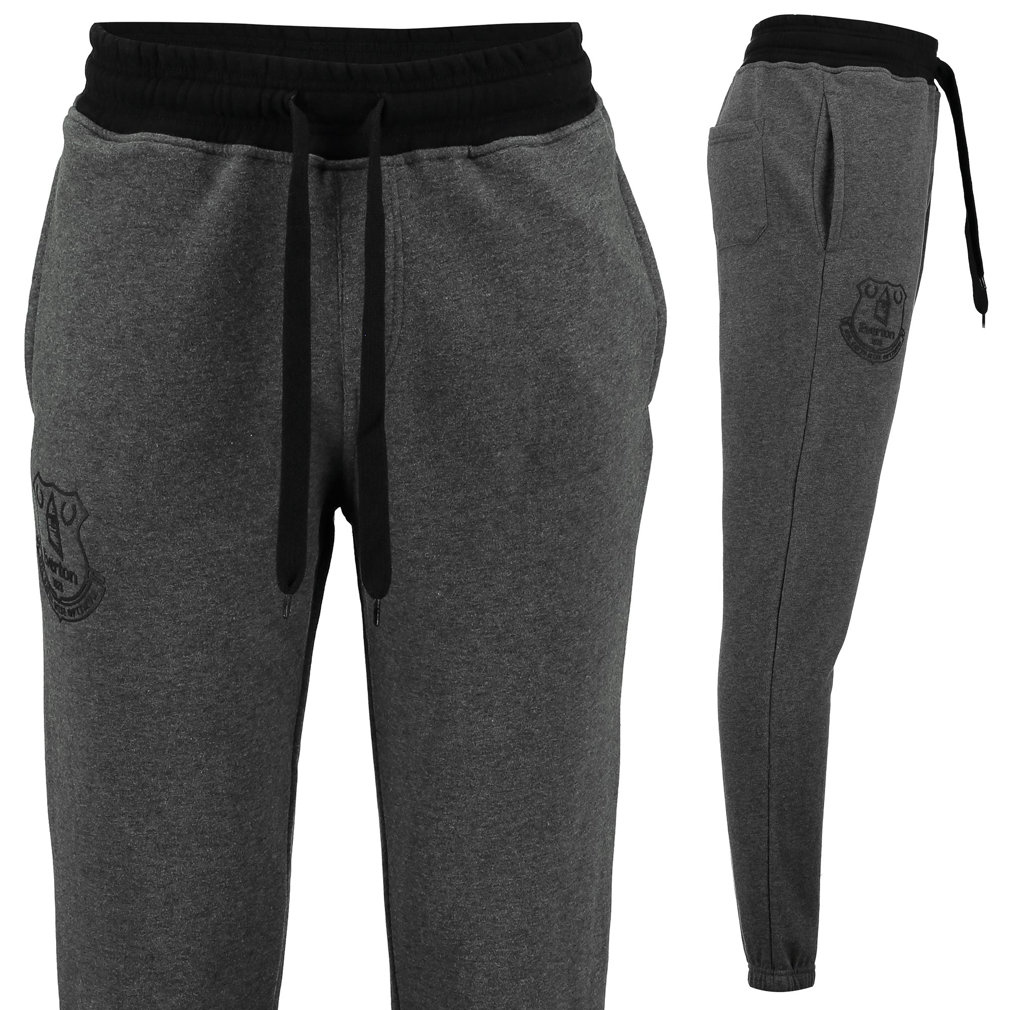 Everton Essentials Slim Fit Jogger - Grey Marl/Black