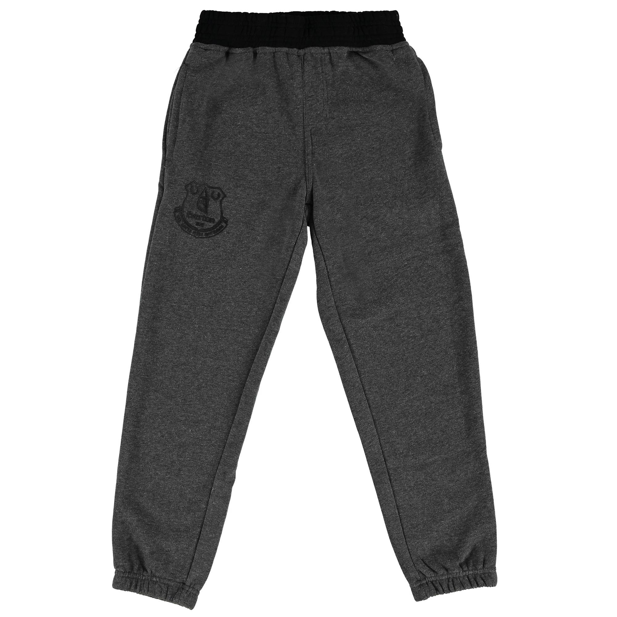 Everton Essentials Slim Fit Jogger - Grey Marl/Black - Junior
