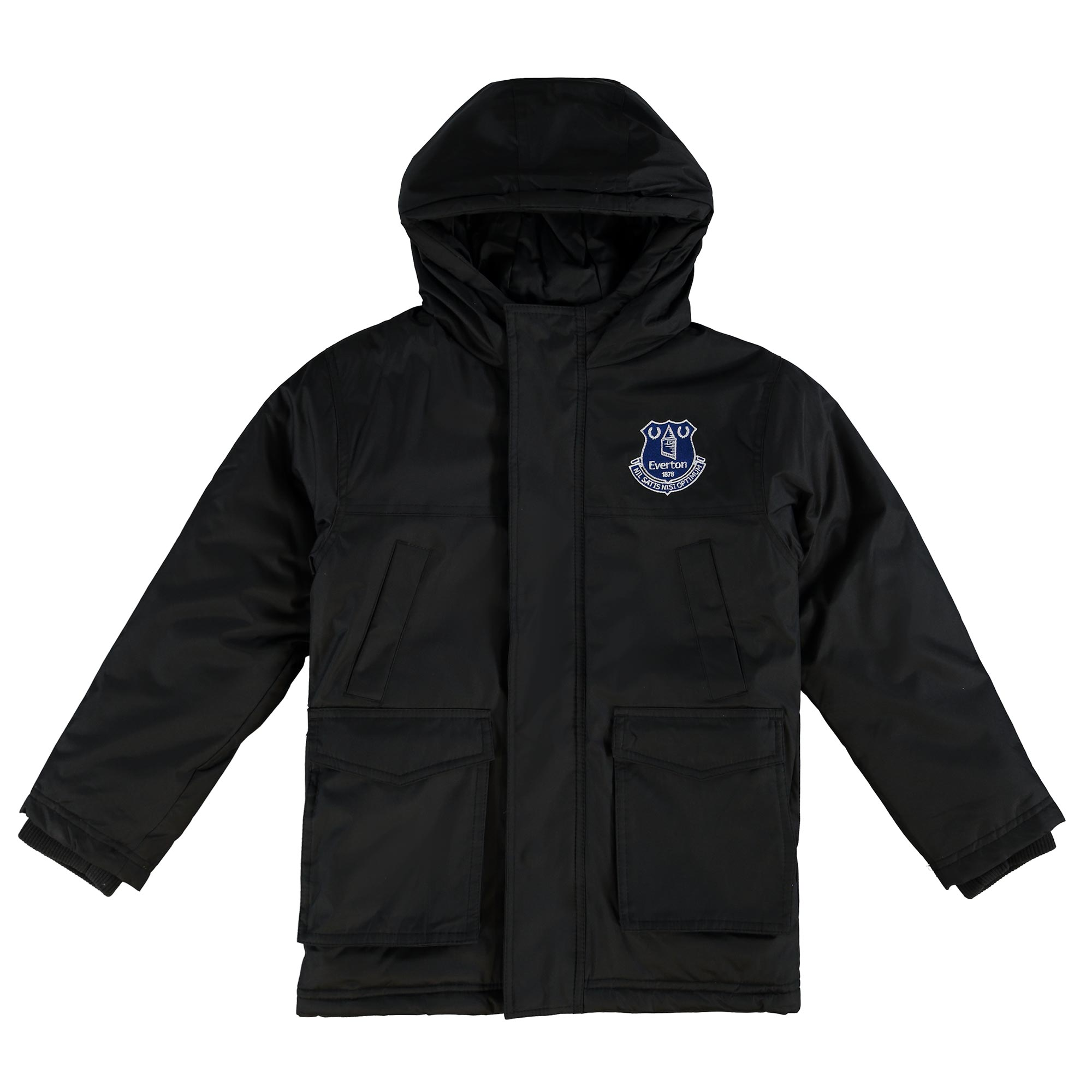 Everton Essentials Padded Coat - Black - Junior